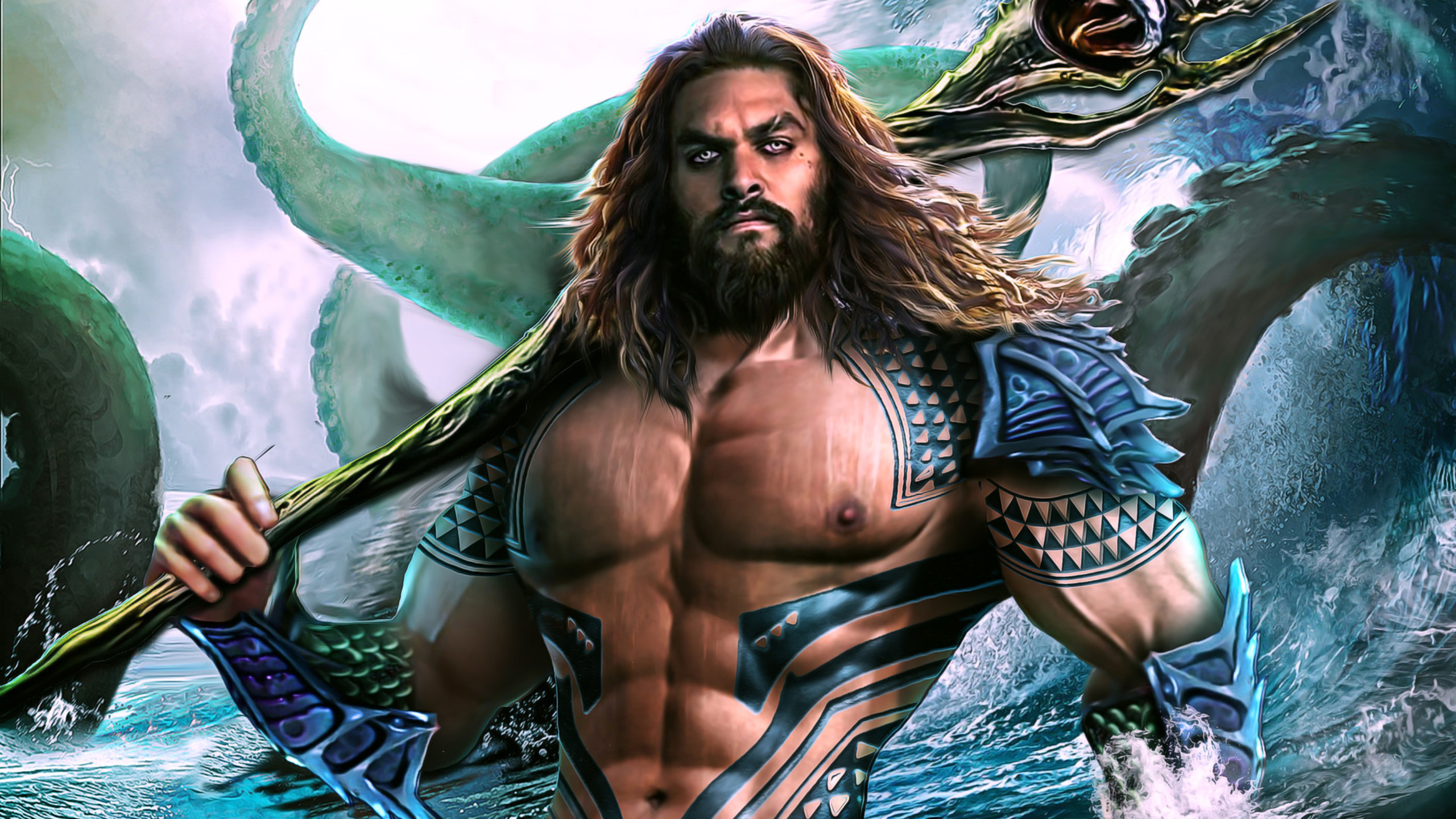 aqua man dc comics movie art design 4k hd pc wallpaper