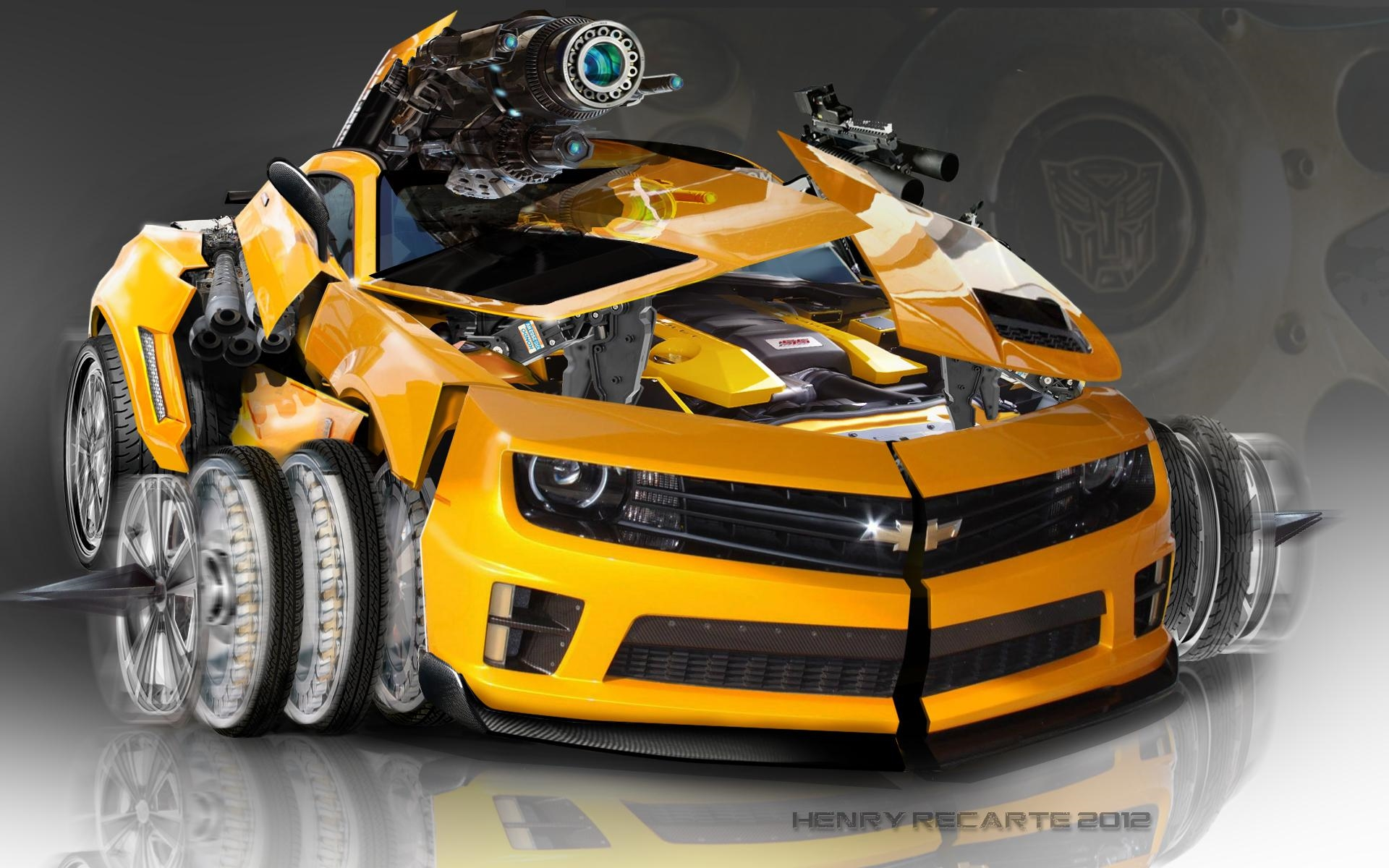 bumble bee toy car transformer