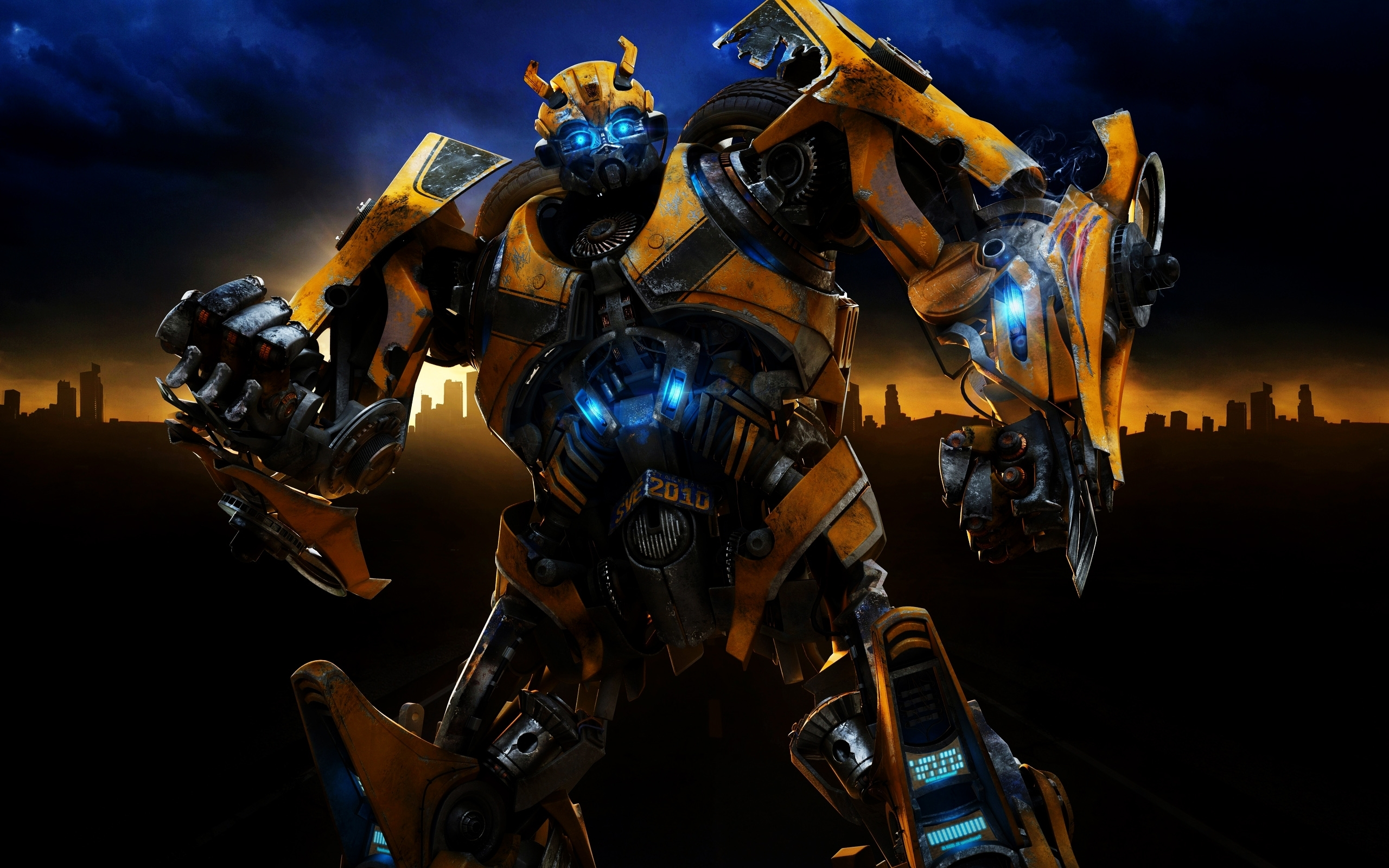 Bumblebee vs Optimus Prime Transformers The Last Knight 4K