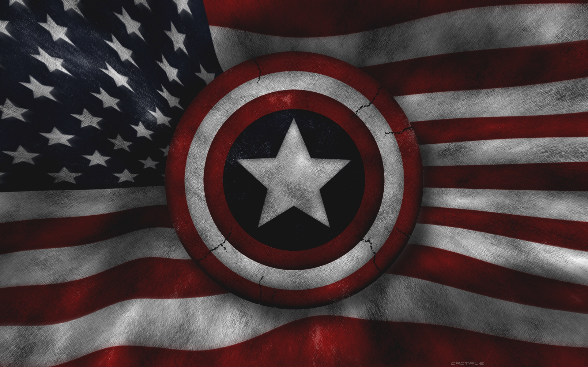 captain america flag us