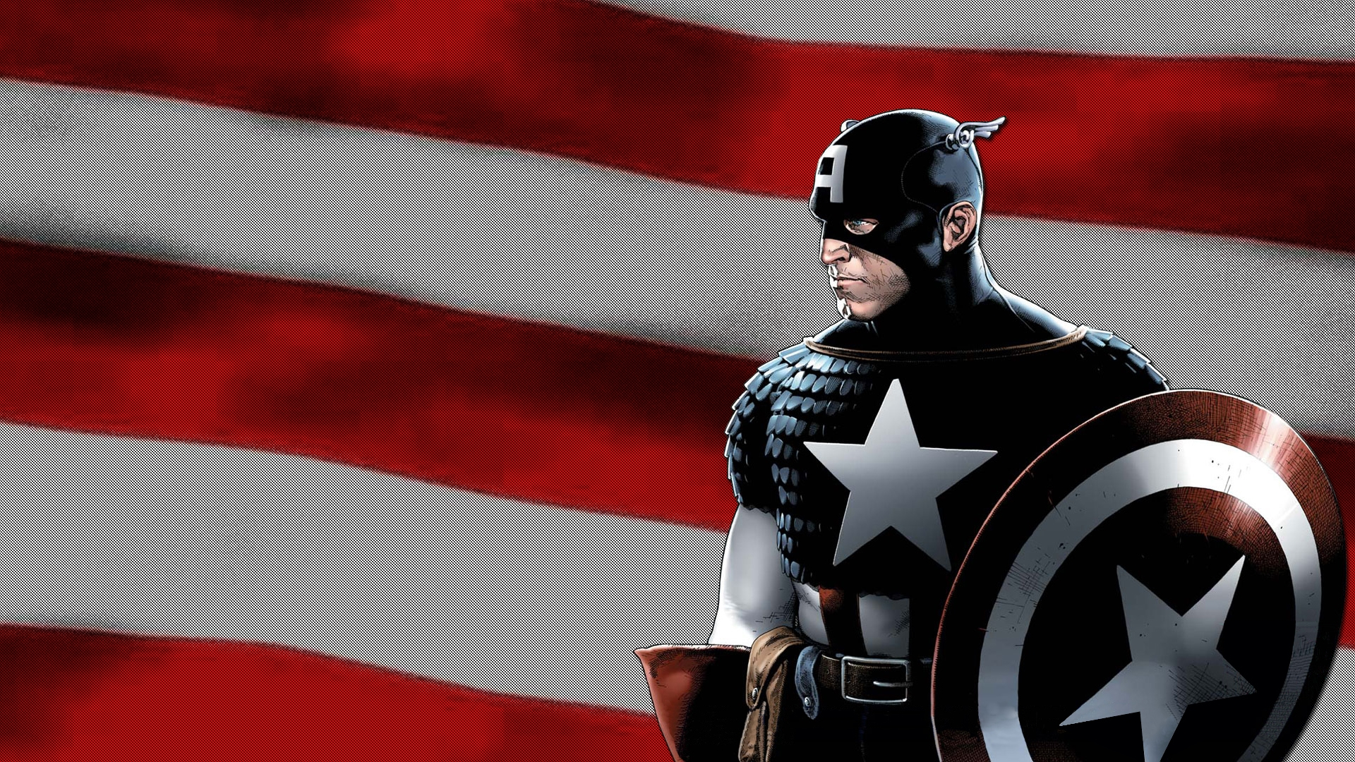 captain america marvel us flag shield hd