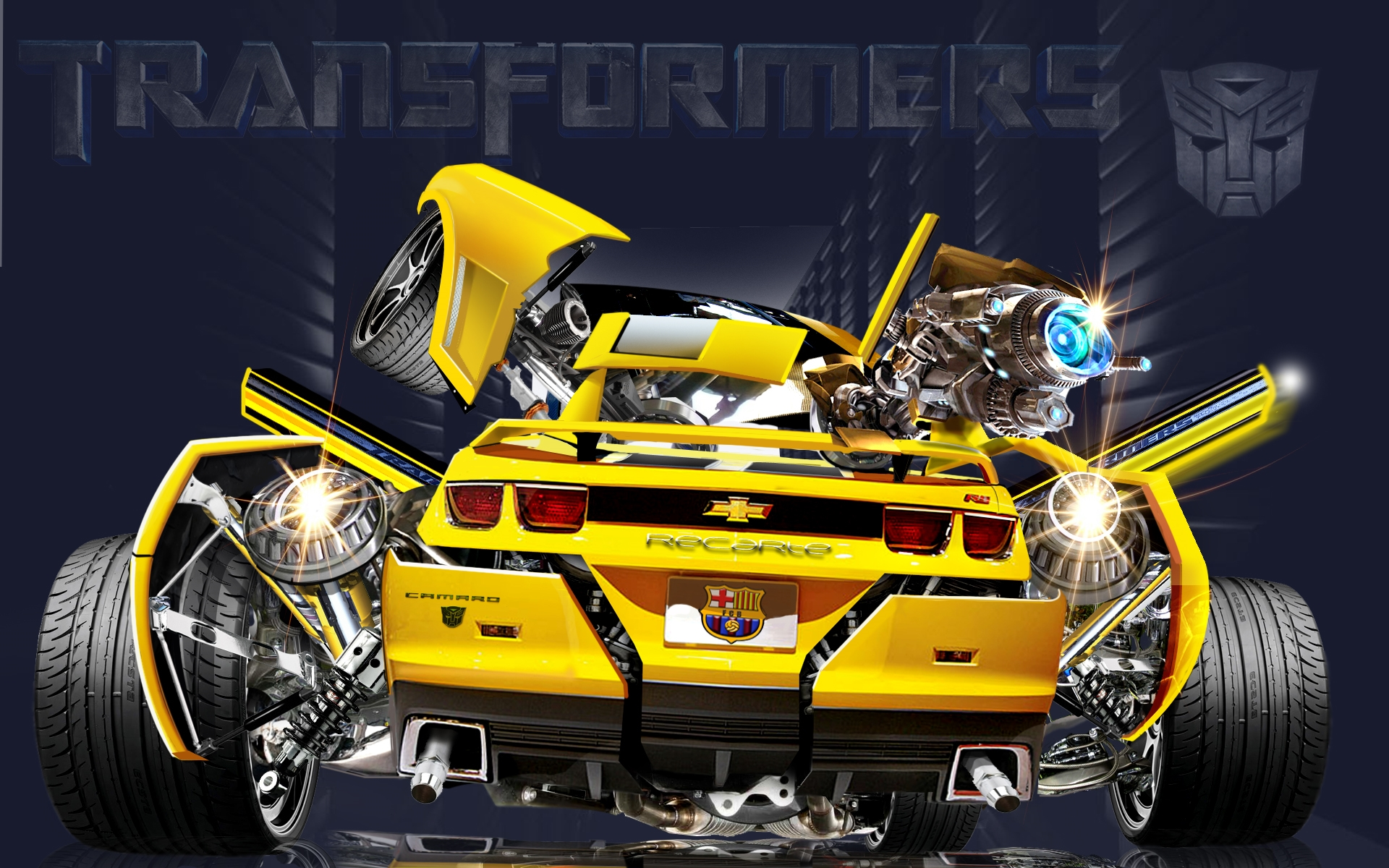 chevrolet camaro transformers bumblebee car free wallpaper