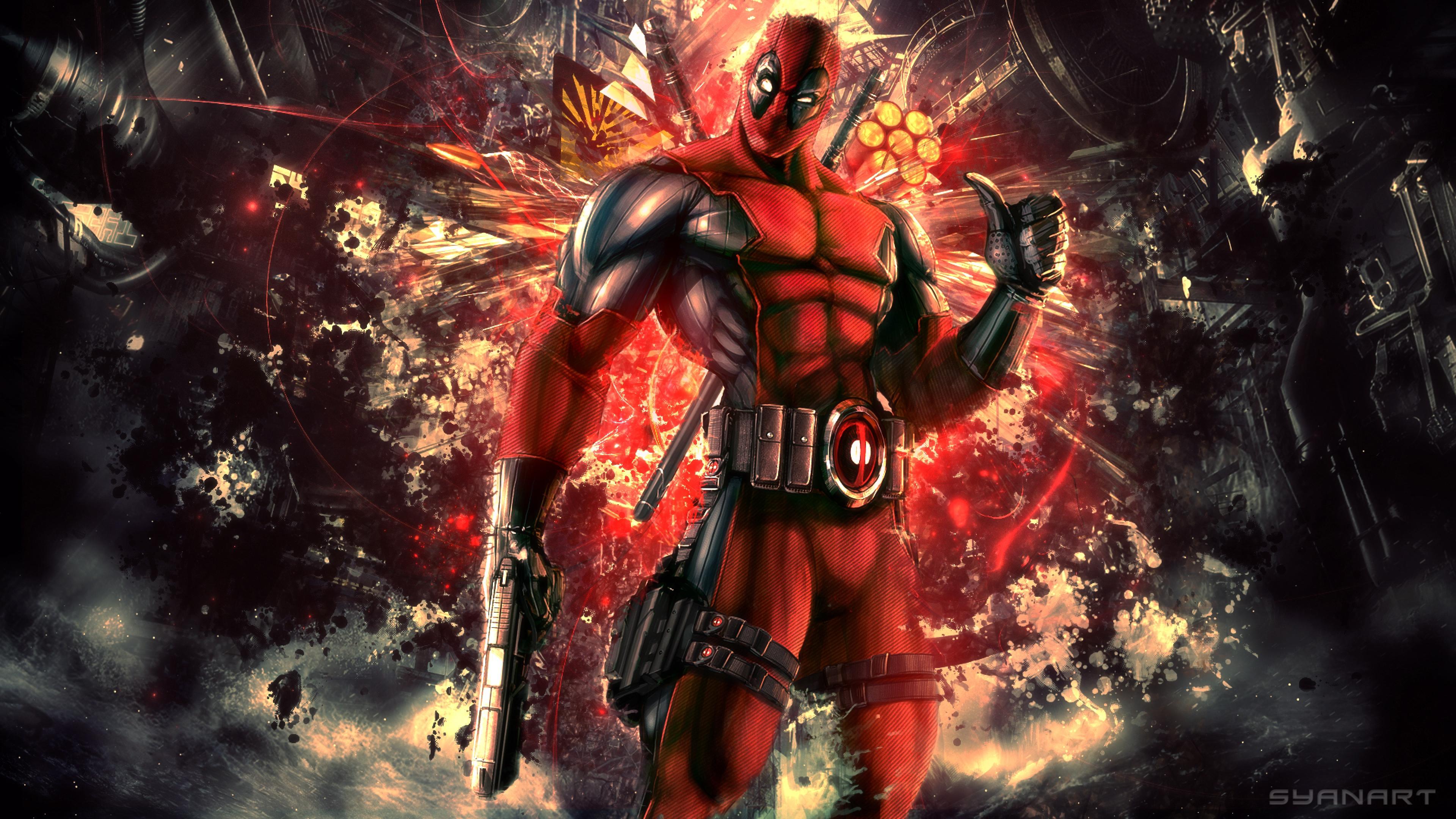 Deadpool Marvel Comics Avenger Background Hd Wallpaper