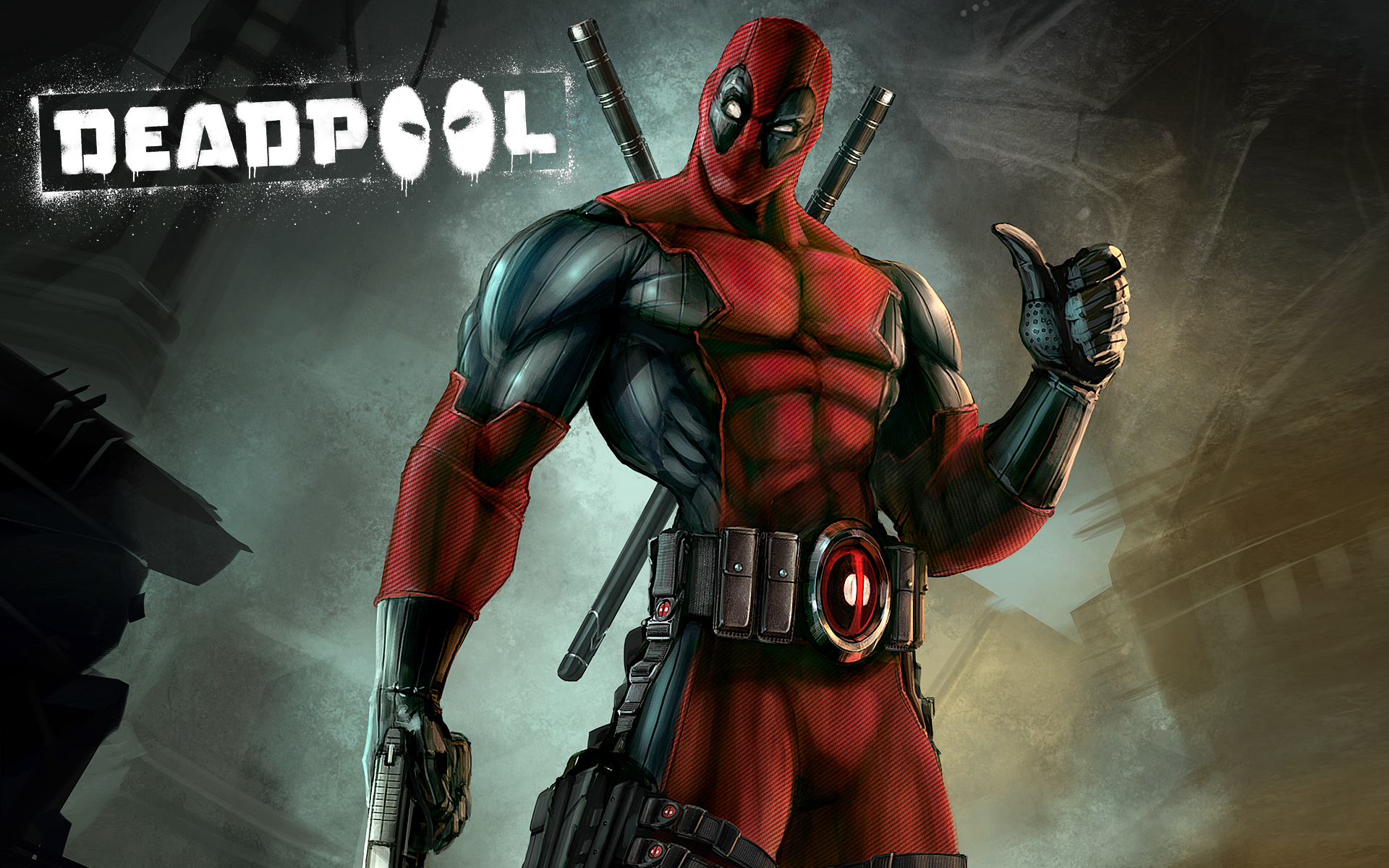 Deadpool Marvel Comics Super Hero Avenger Background Hd Wallpaper