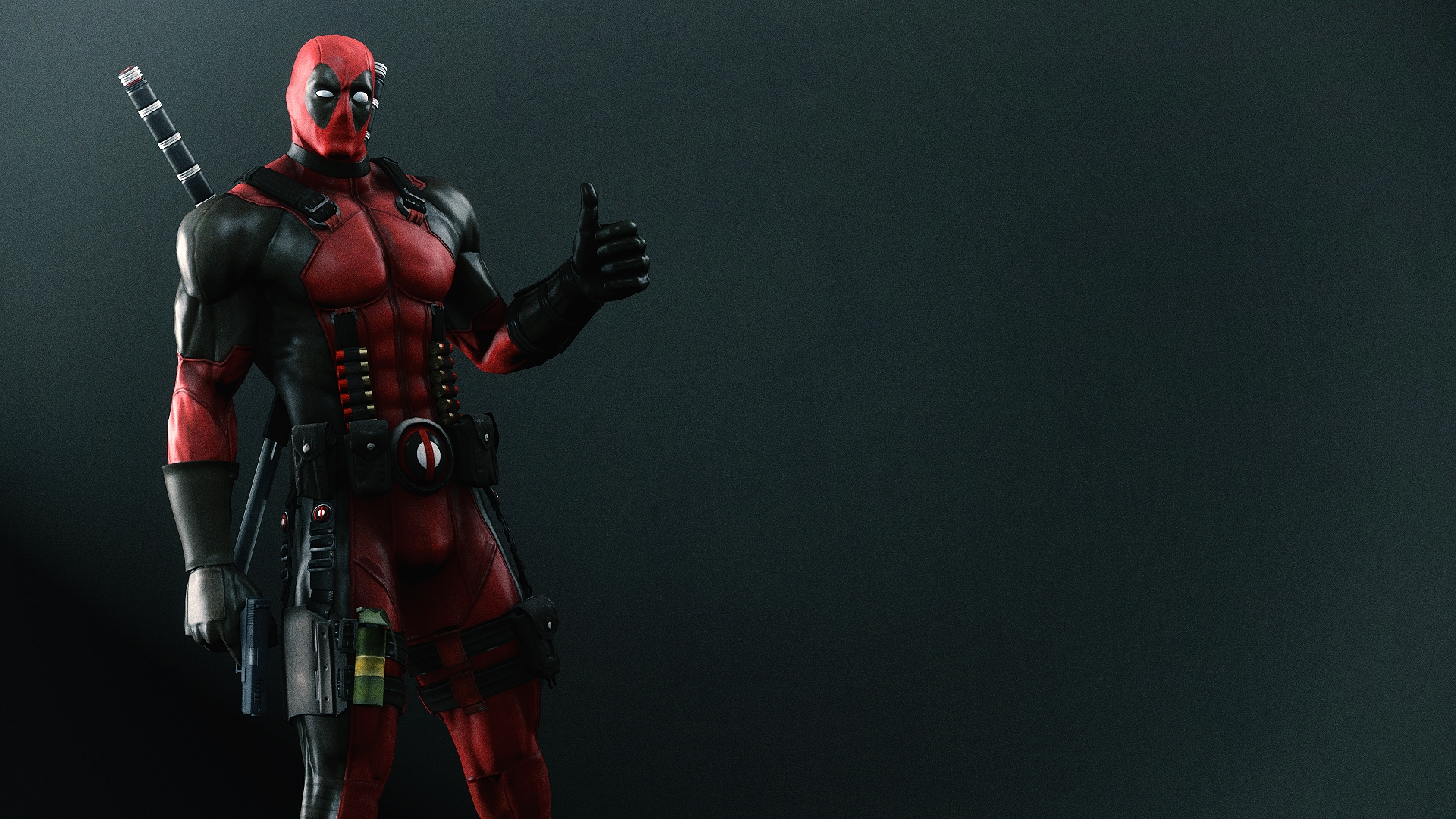 fantastic 4 deadpool wade wilson mercenary arms wallpaper 1920x1080