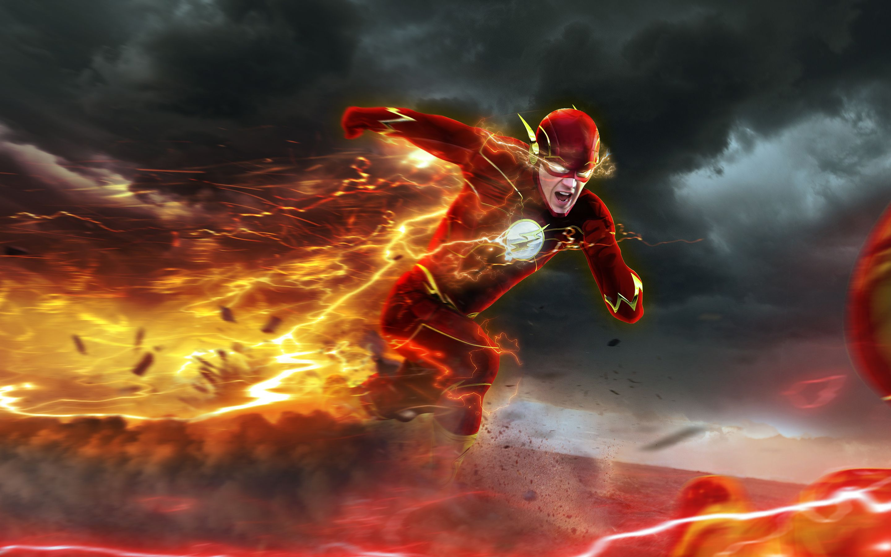 flash barry allen dc comics super hero lightning speed hd wallpaper