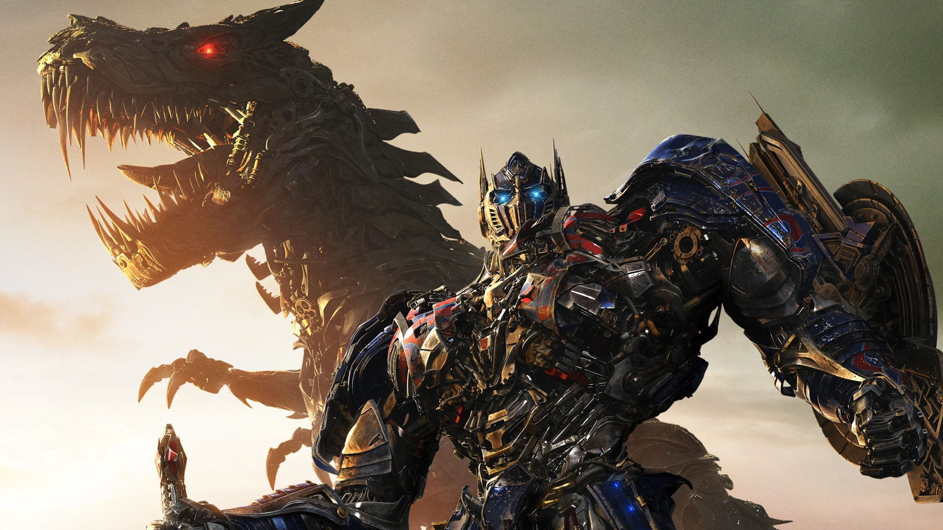 grimlock optimus prime transformers dinobots age of extinction 1920x1080