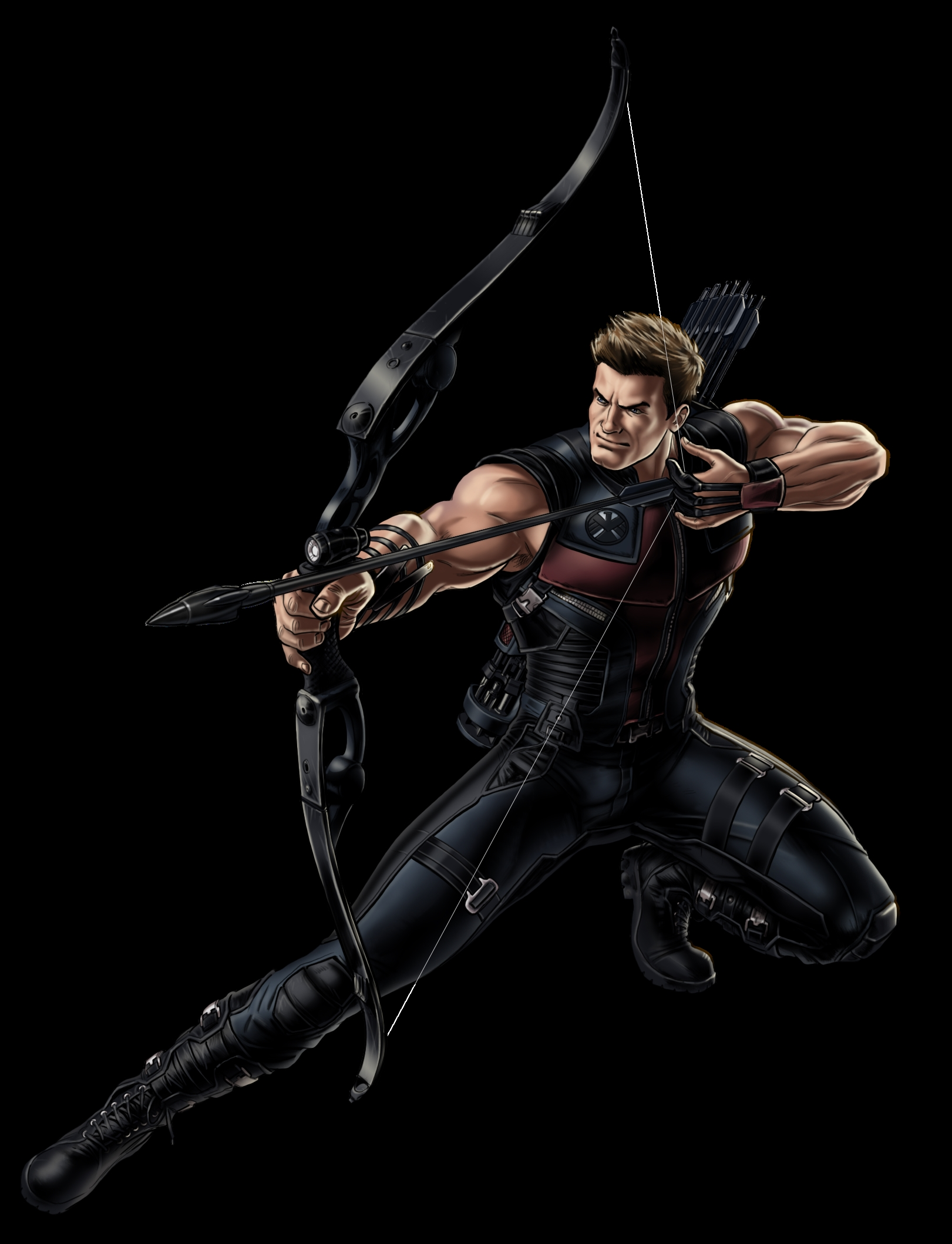 hawkeye marvel avenger portrait art