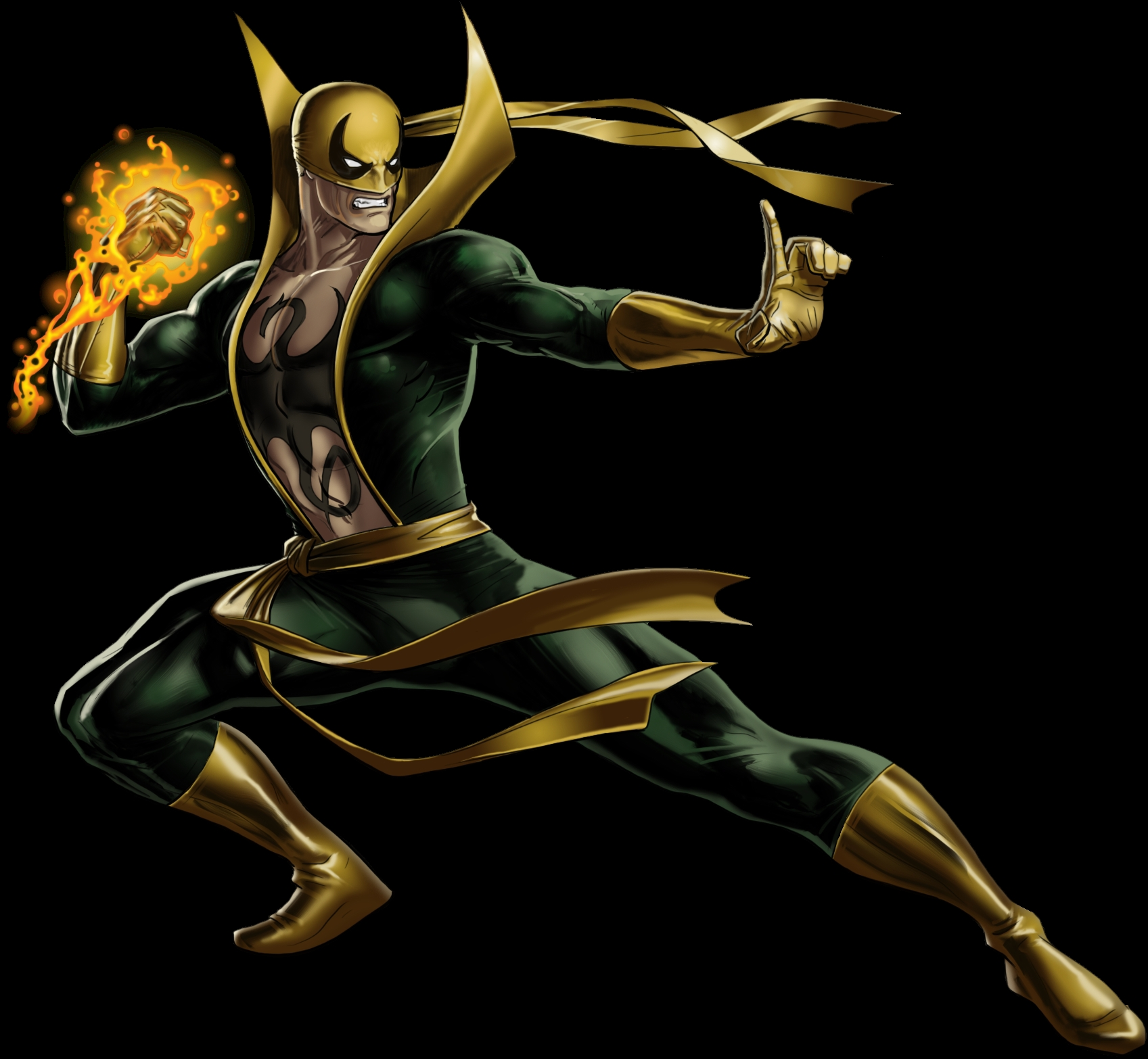iron fist portrait art