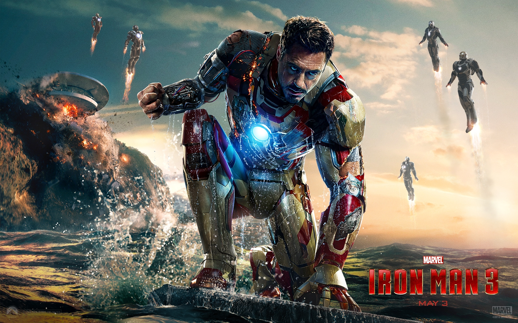 iron man 3 movie wide