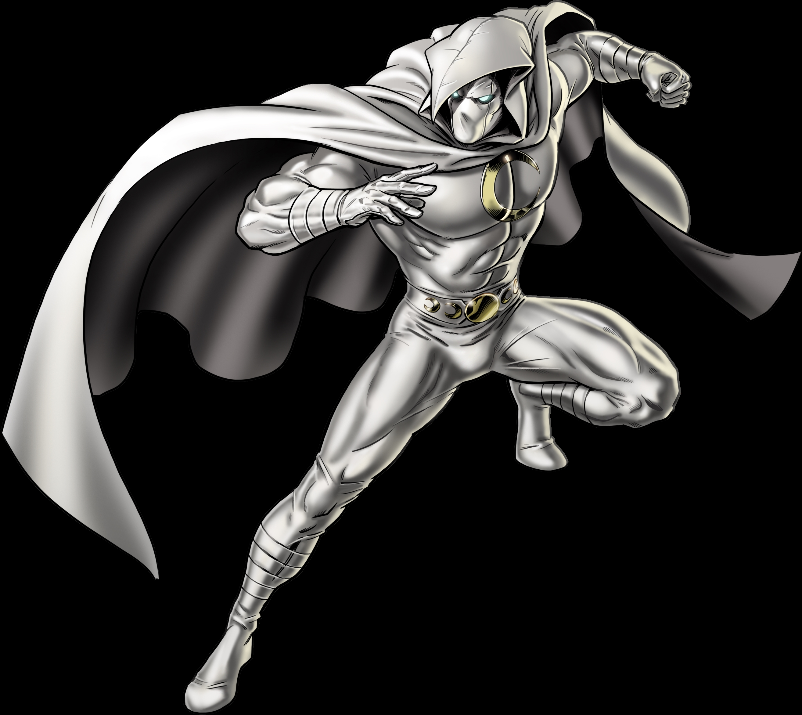 moon knight right portrait art
