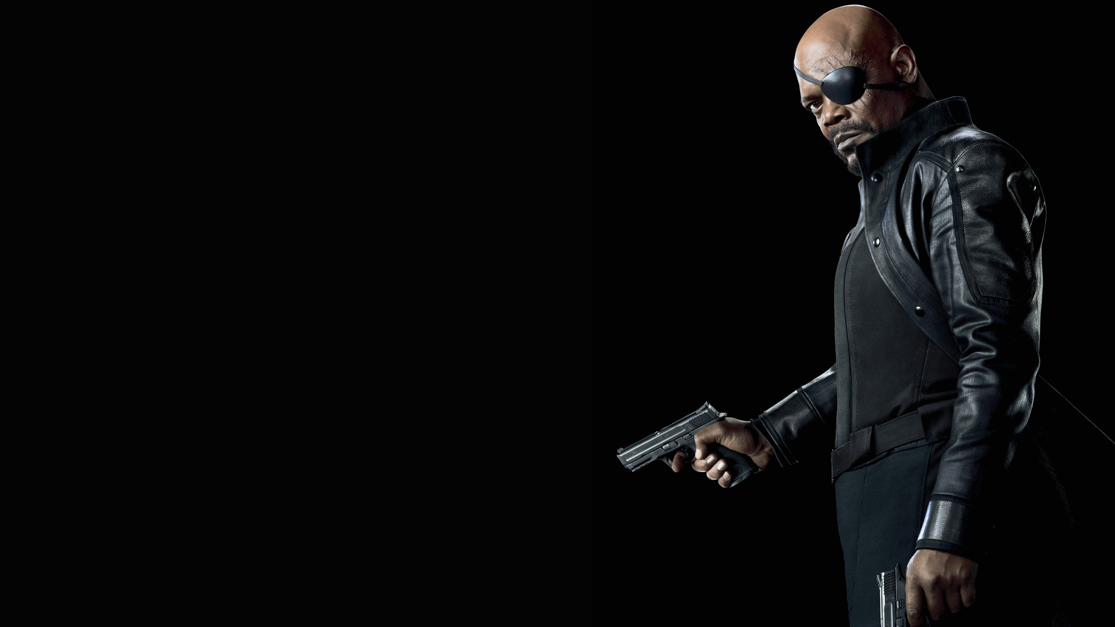 nick fury captain marvel avengers hd wallpaper