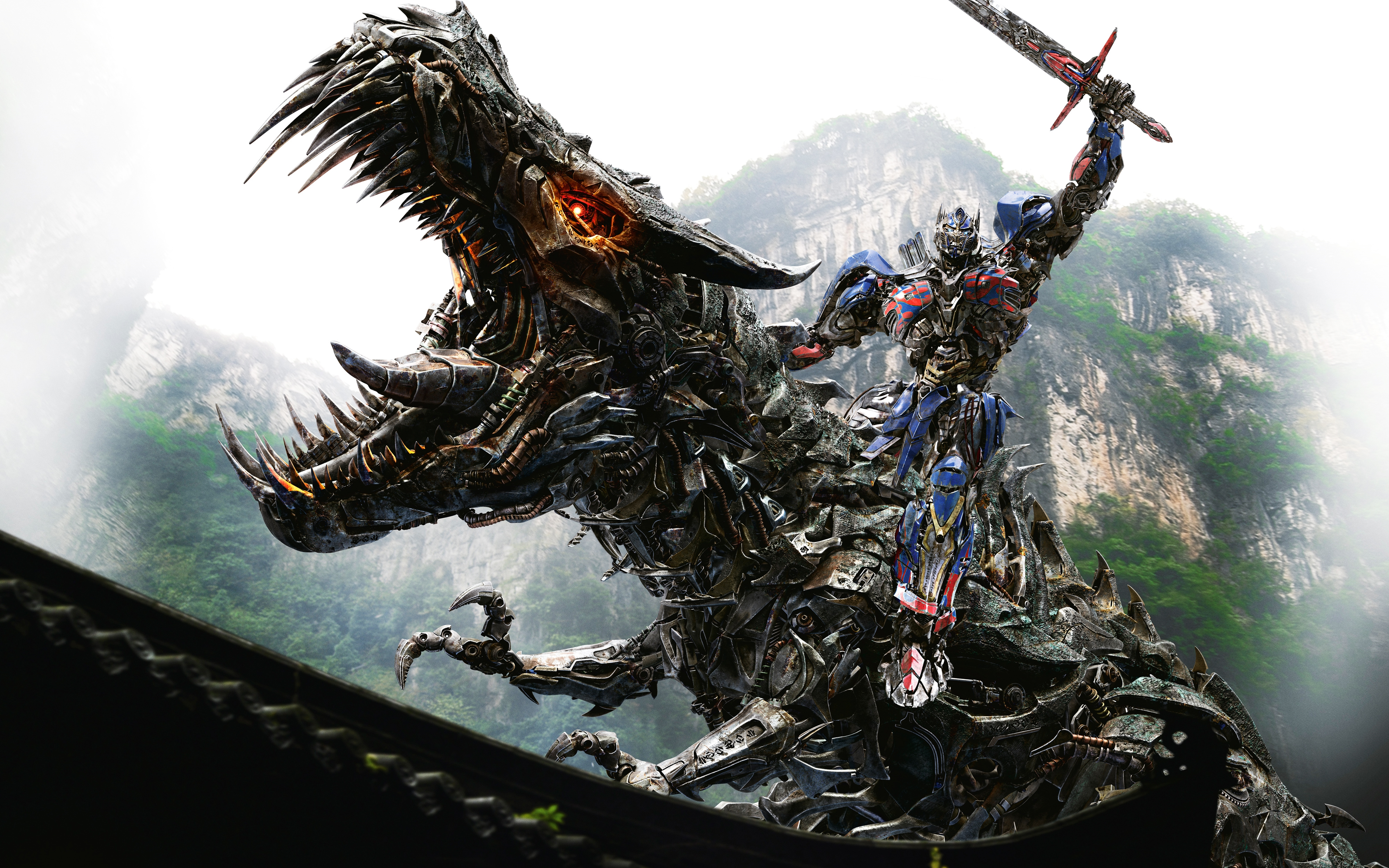 optimus prime autobot on dinobot transformers 4