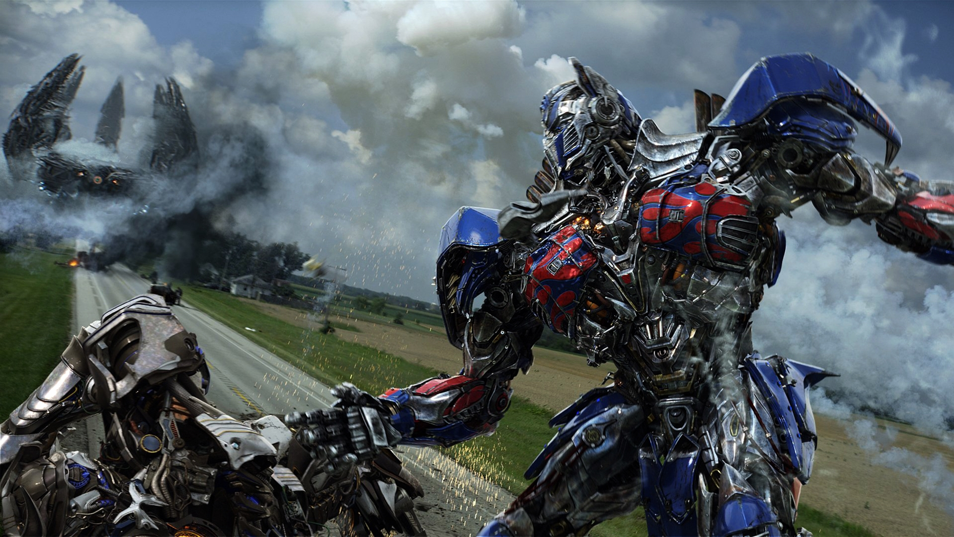 optimus prime fighting transformer 4 movie