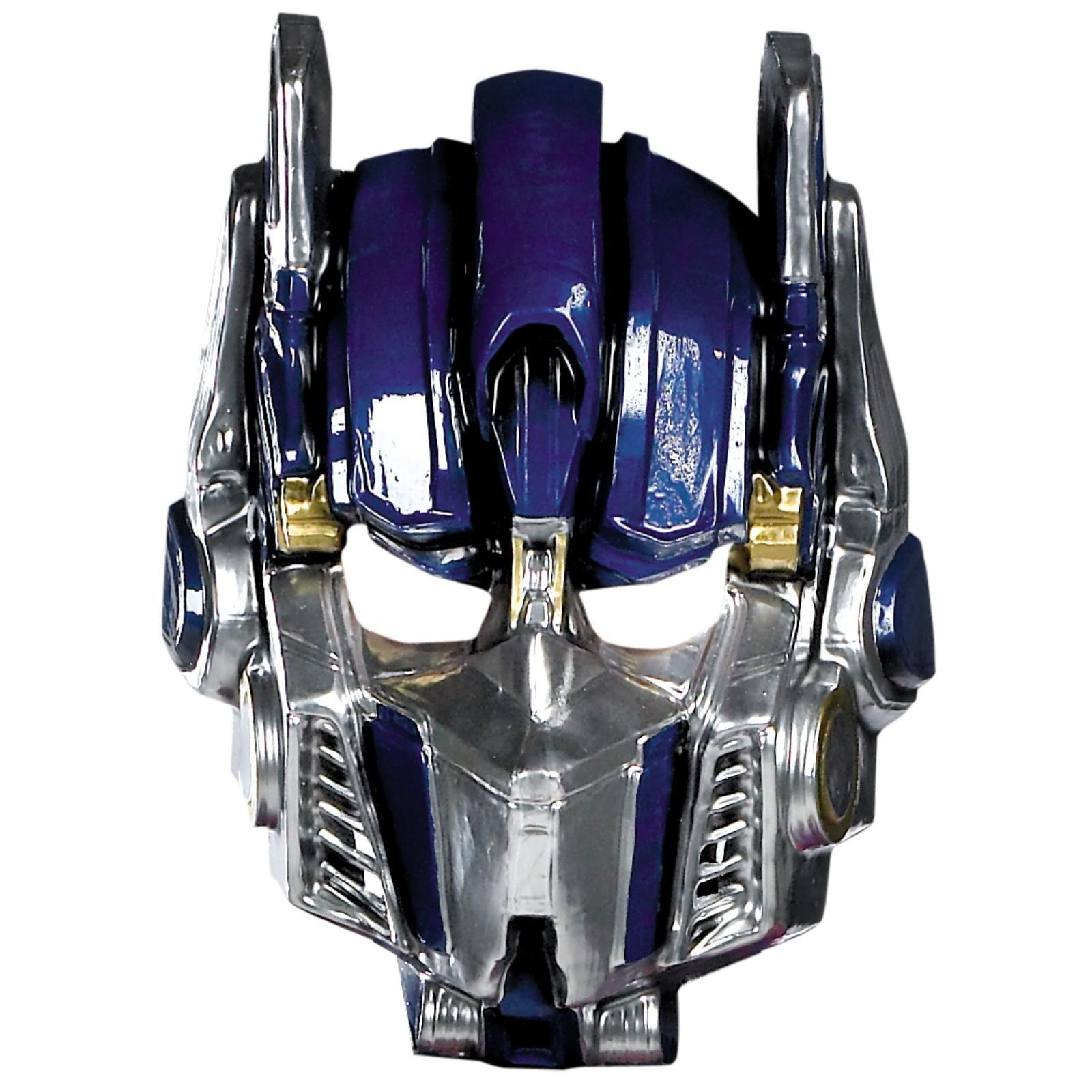 optimus prime transformer face mask
