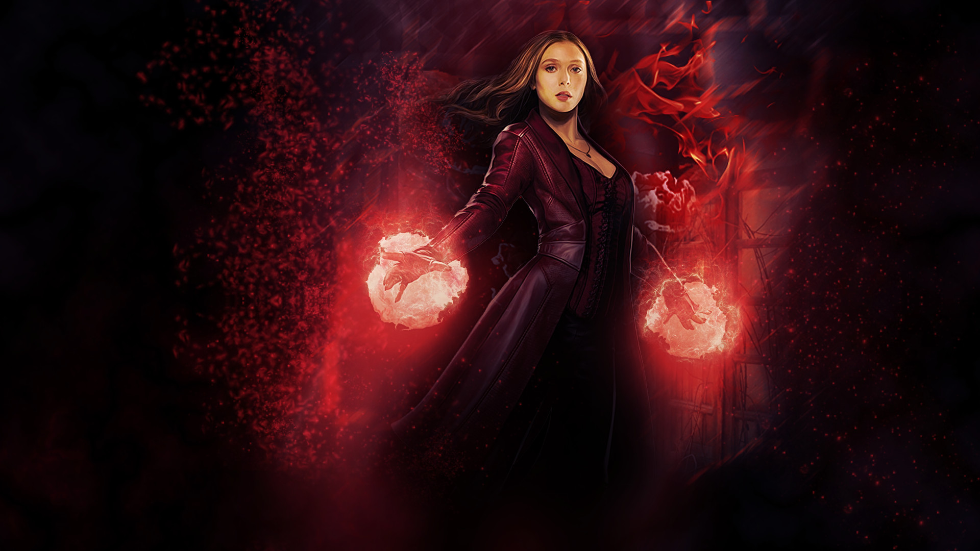 scarlet witch marvel avengers super hero hd background wallpaper