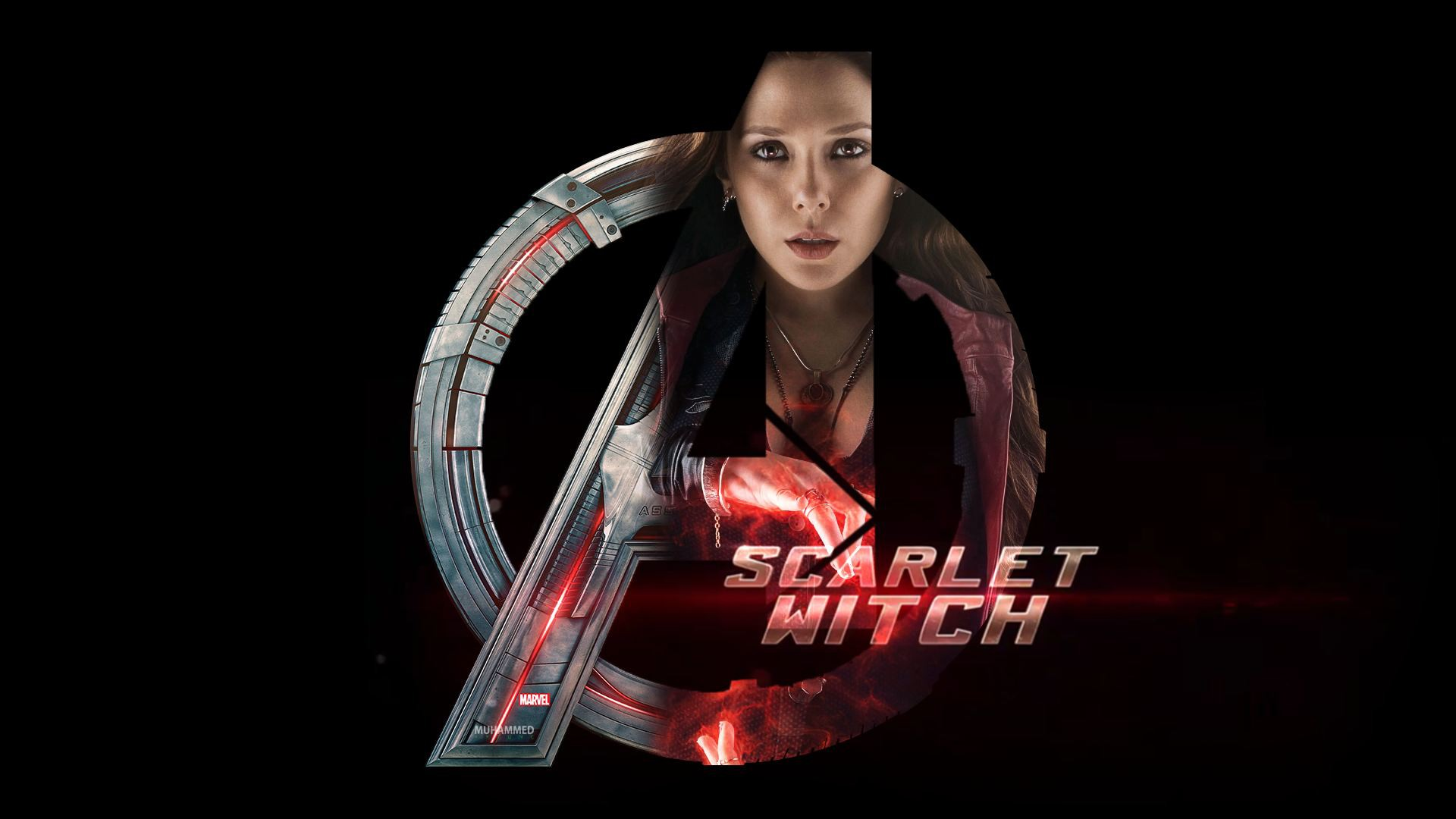 scarlet witch wanda maximoff marvel avengers super hero hd wallpaper