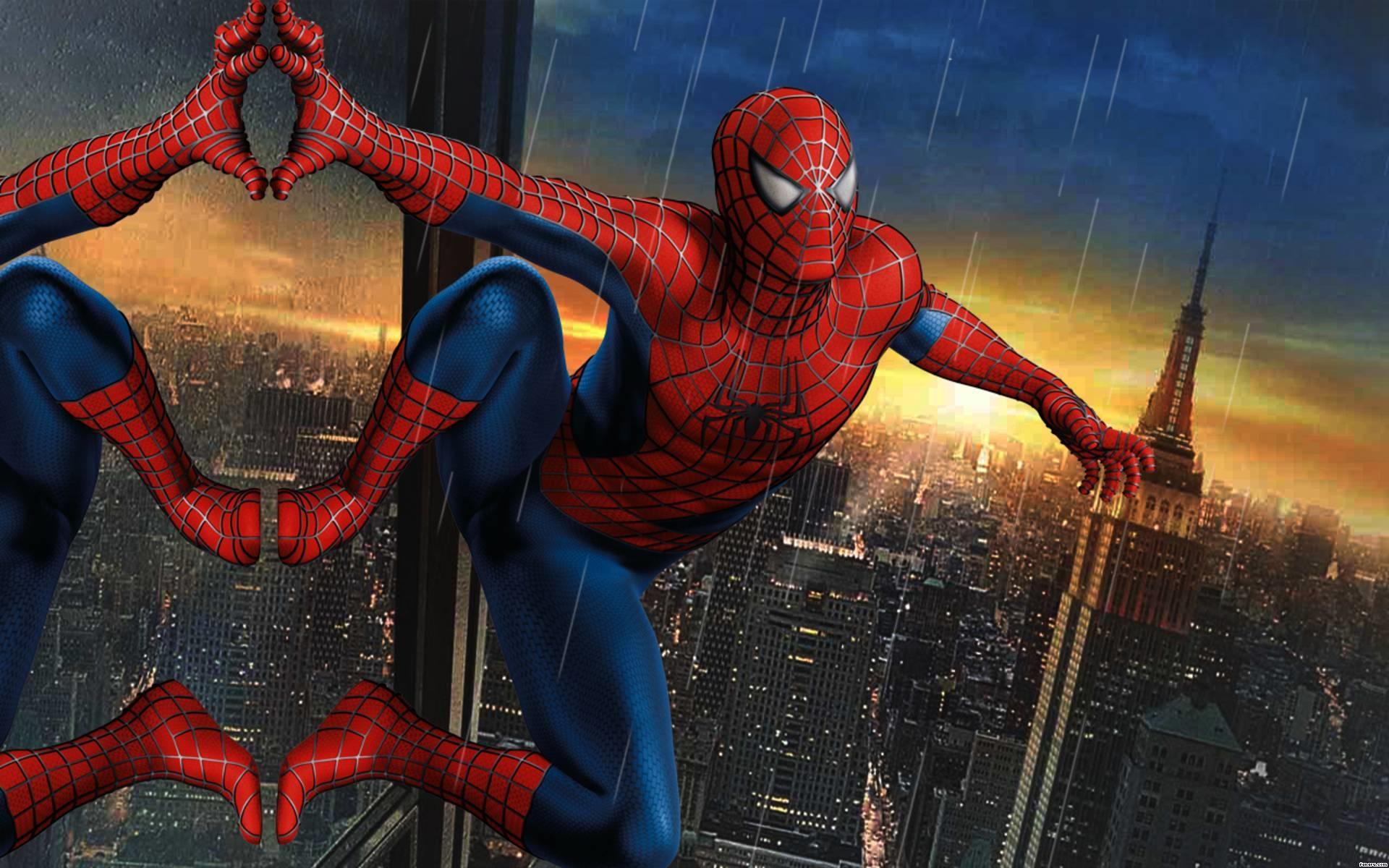 spider man climbing building comic wallpaper