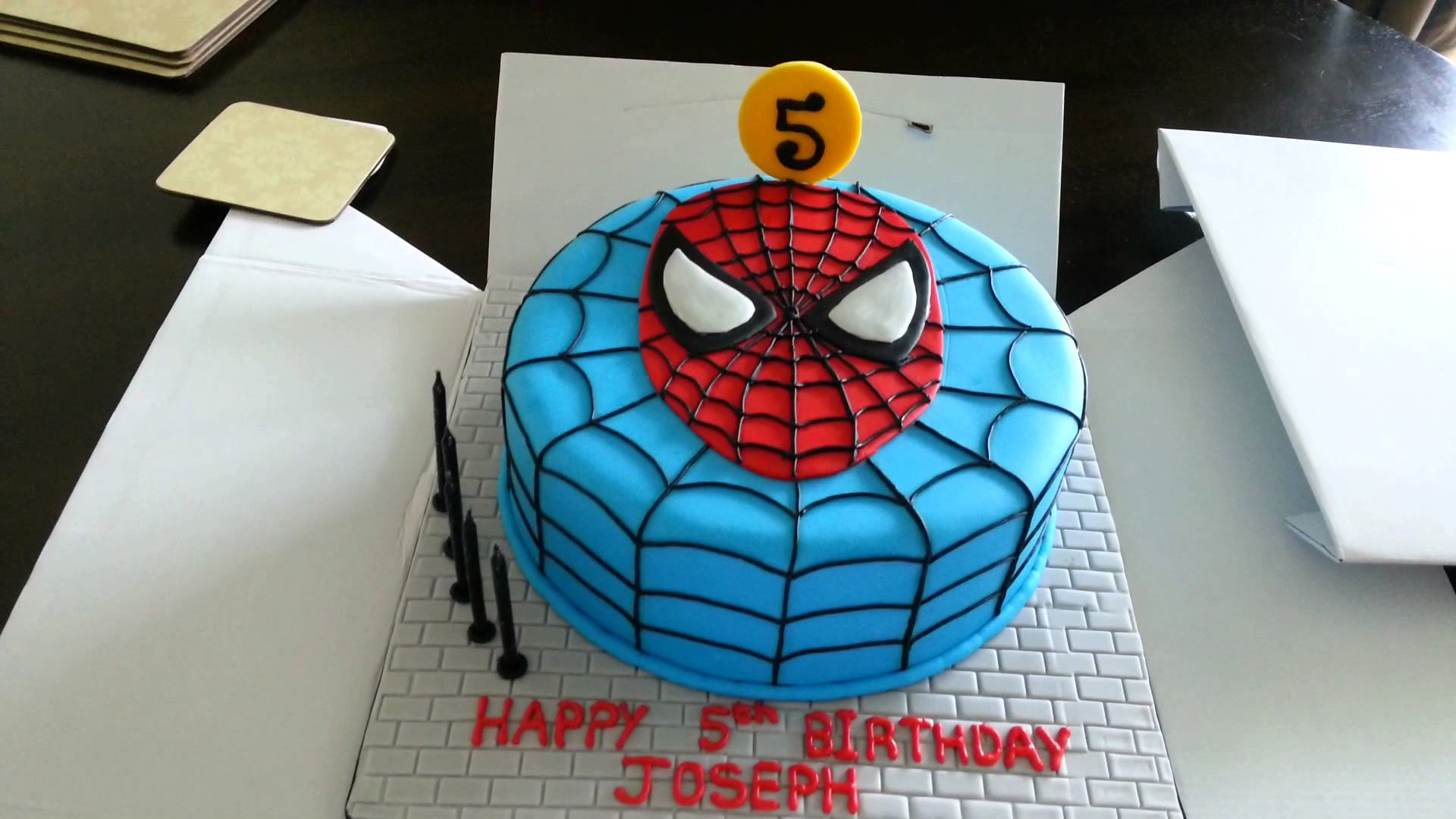spiderman cake 5 birthday