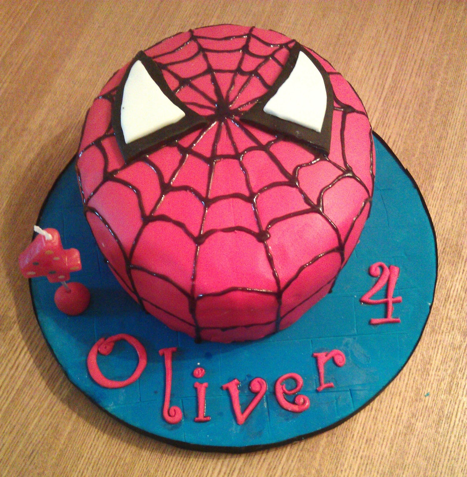 spiderman cake mask