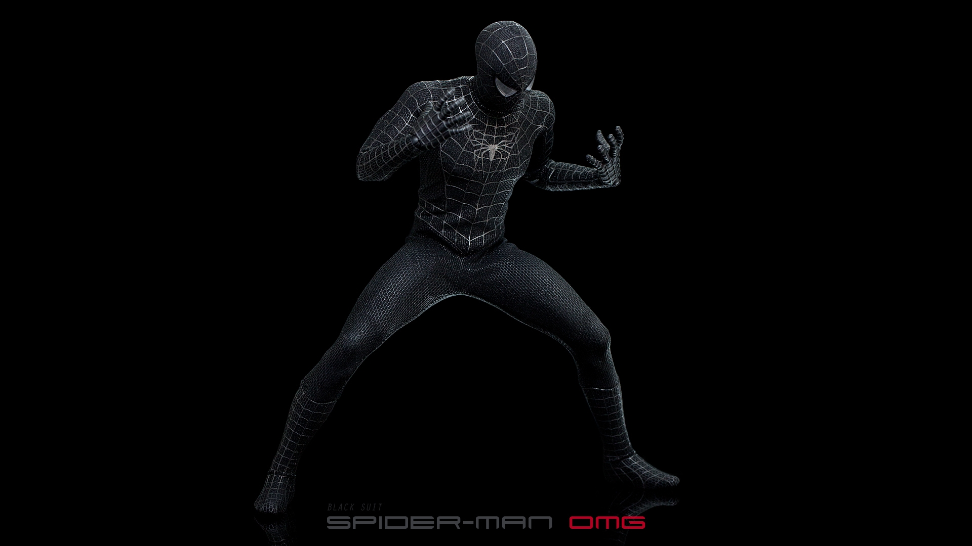 spiderman costume black