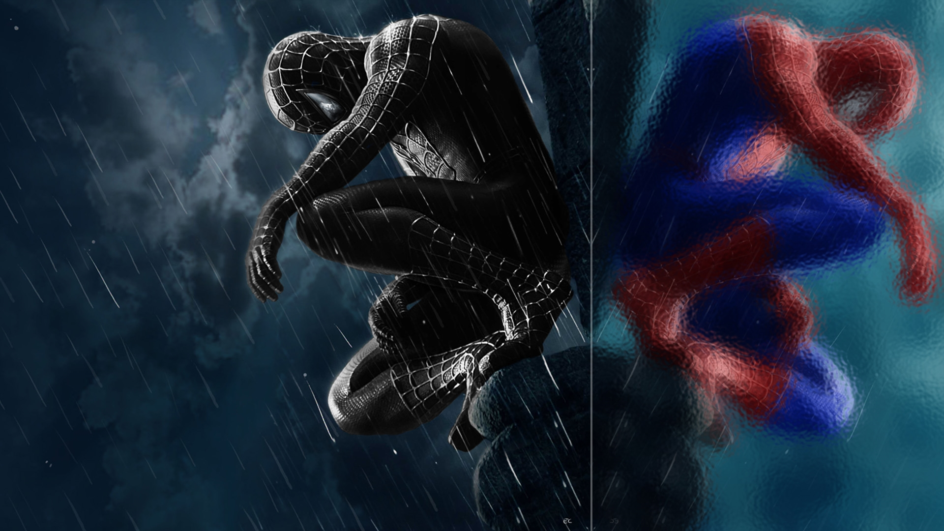 spiderman wallpaper spiderman reflections art