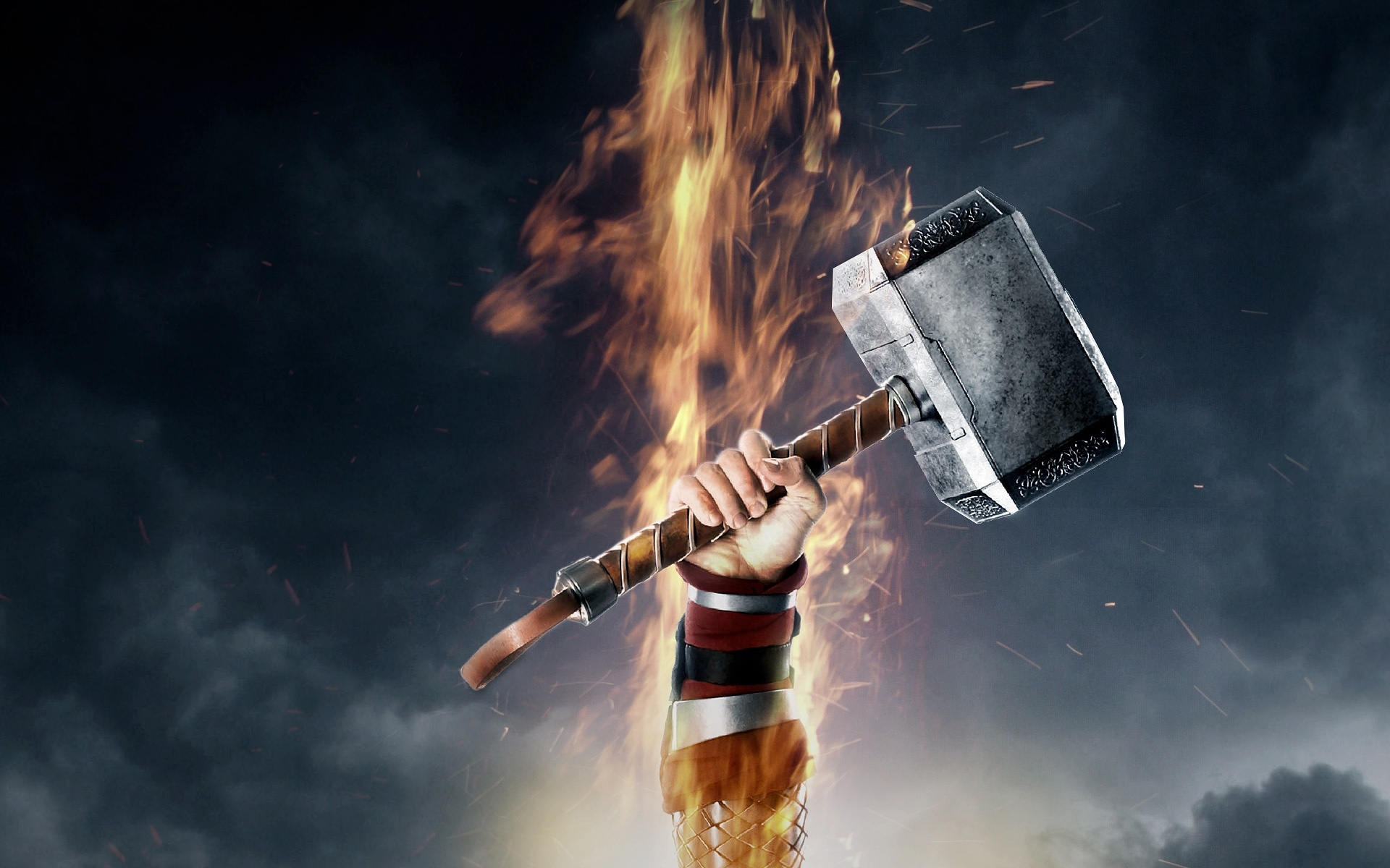 Wallpaper Thor Hammer
