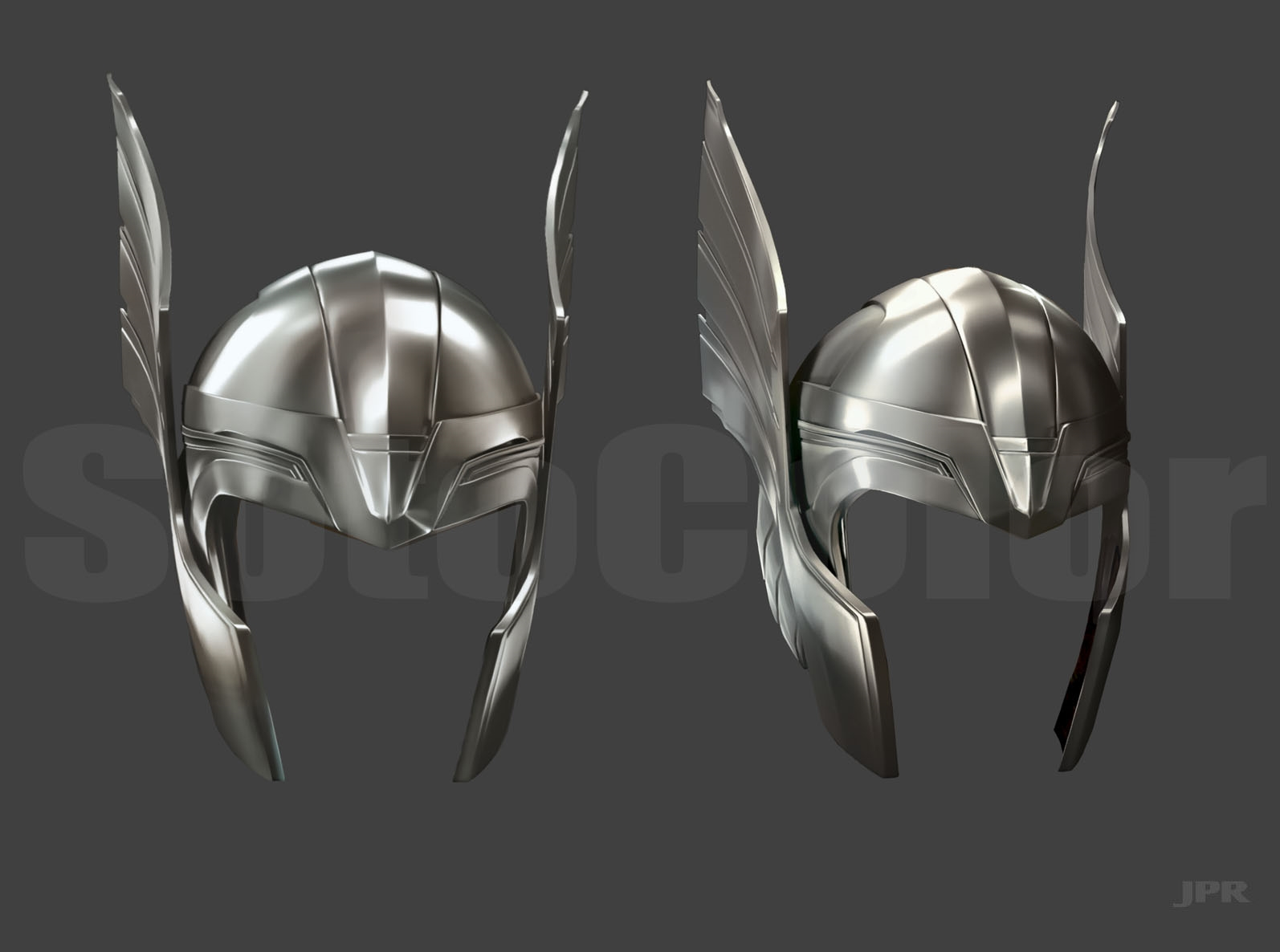 thor helmet steel wallpaper