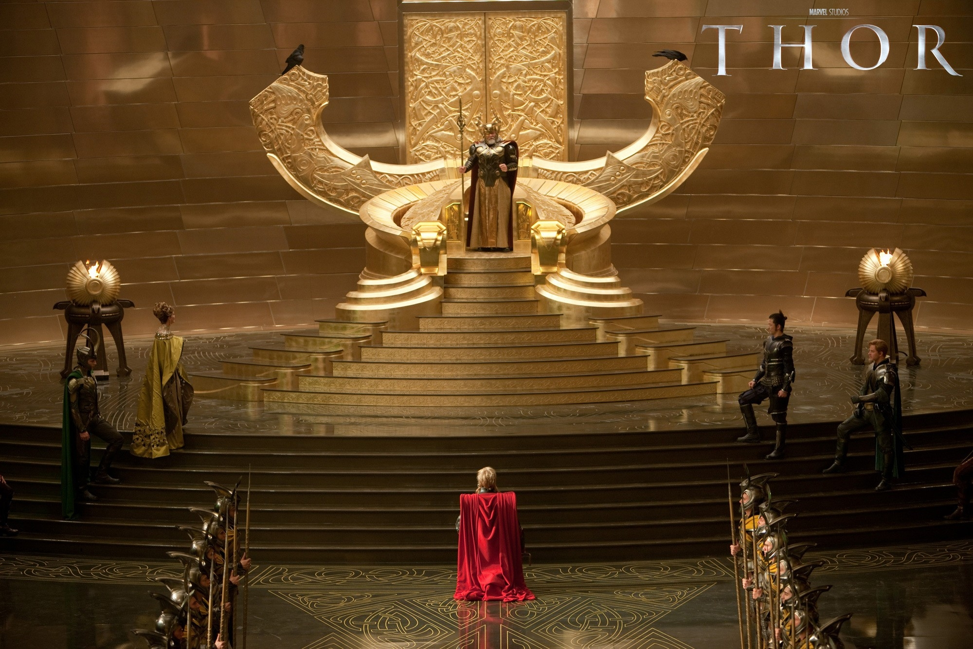 thor odin throne hd wallpaper