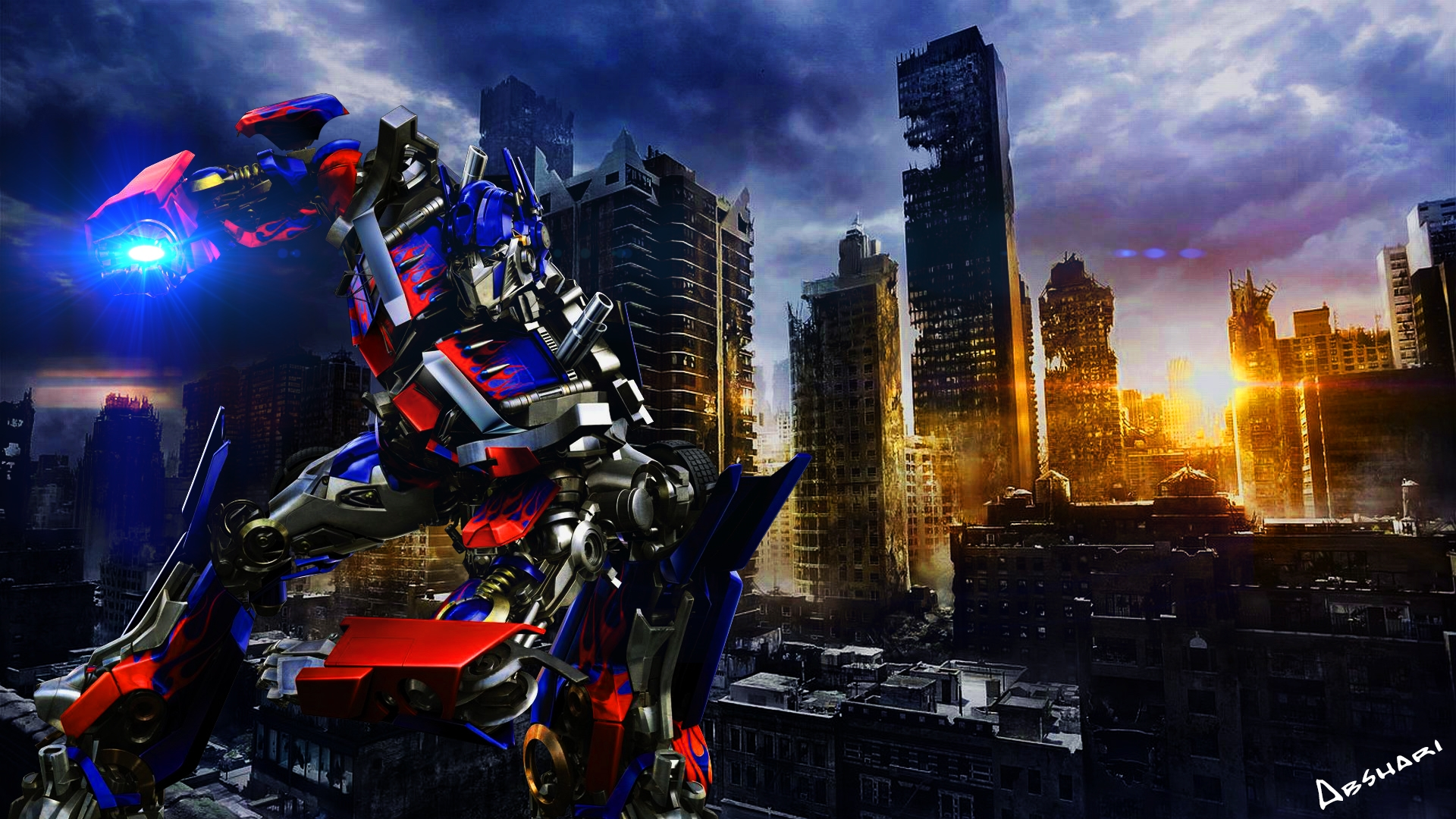 transformer optimus prime high quality photo