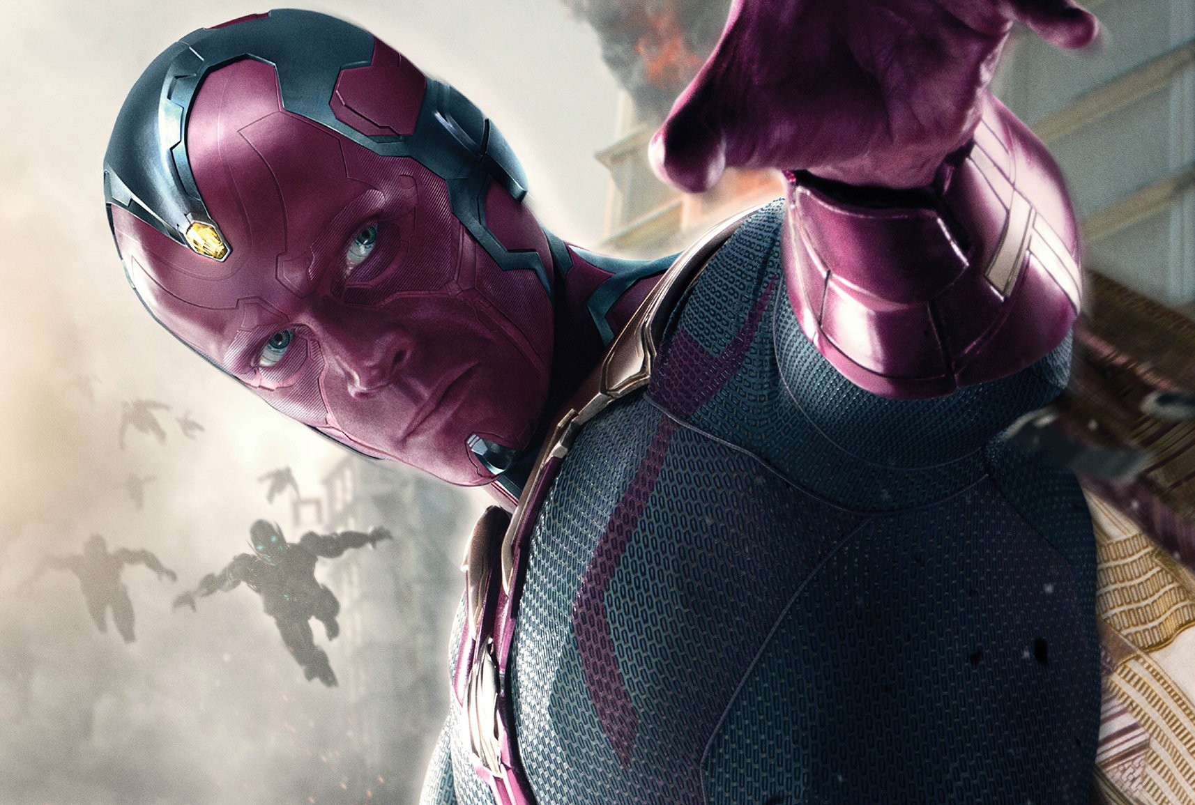 vision marvel avengers super hero hd image wallpaper