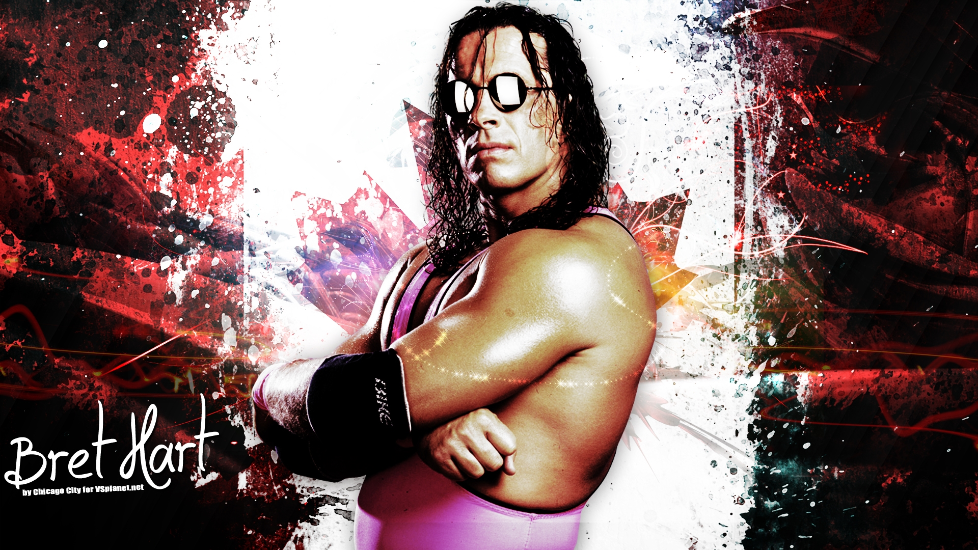 bret hart hit man hd wallpaer free