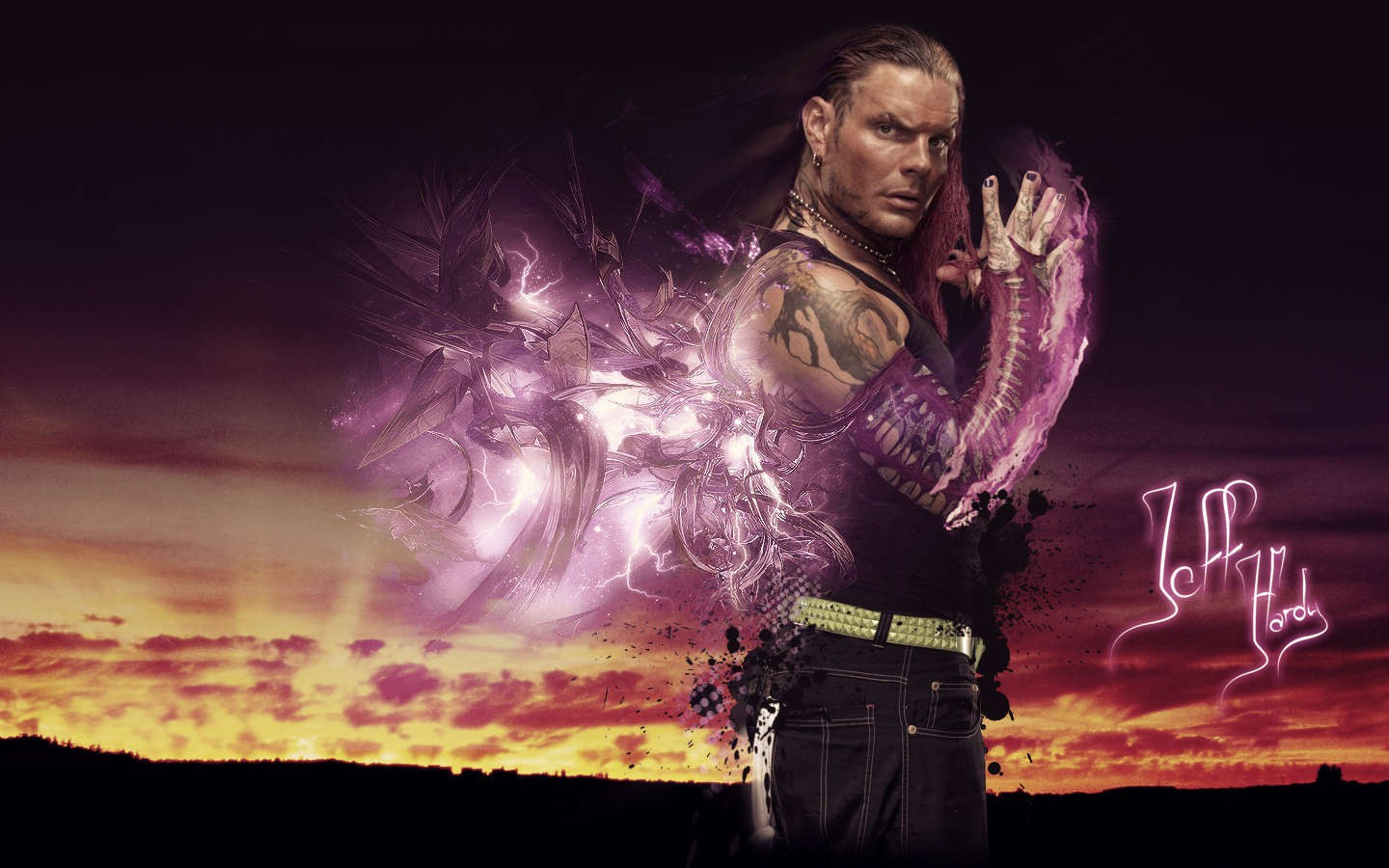 Jeff Hardy Cool Wwe Superstar 3d Wallpaper Hd Desktop