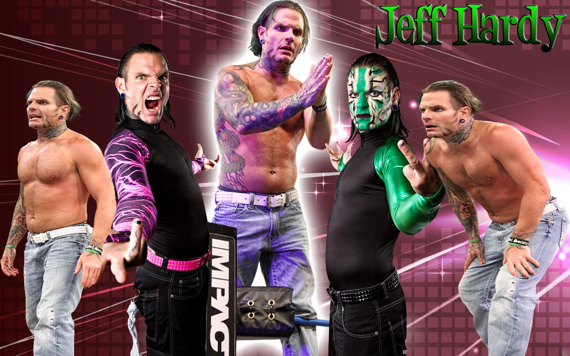jeff hardy wwe superstar 3d free hd wallpaper