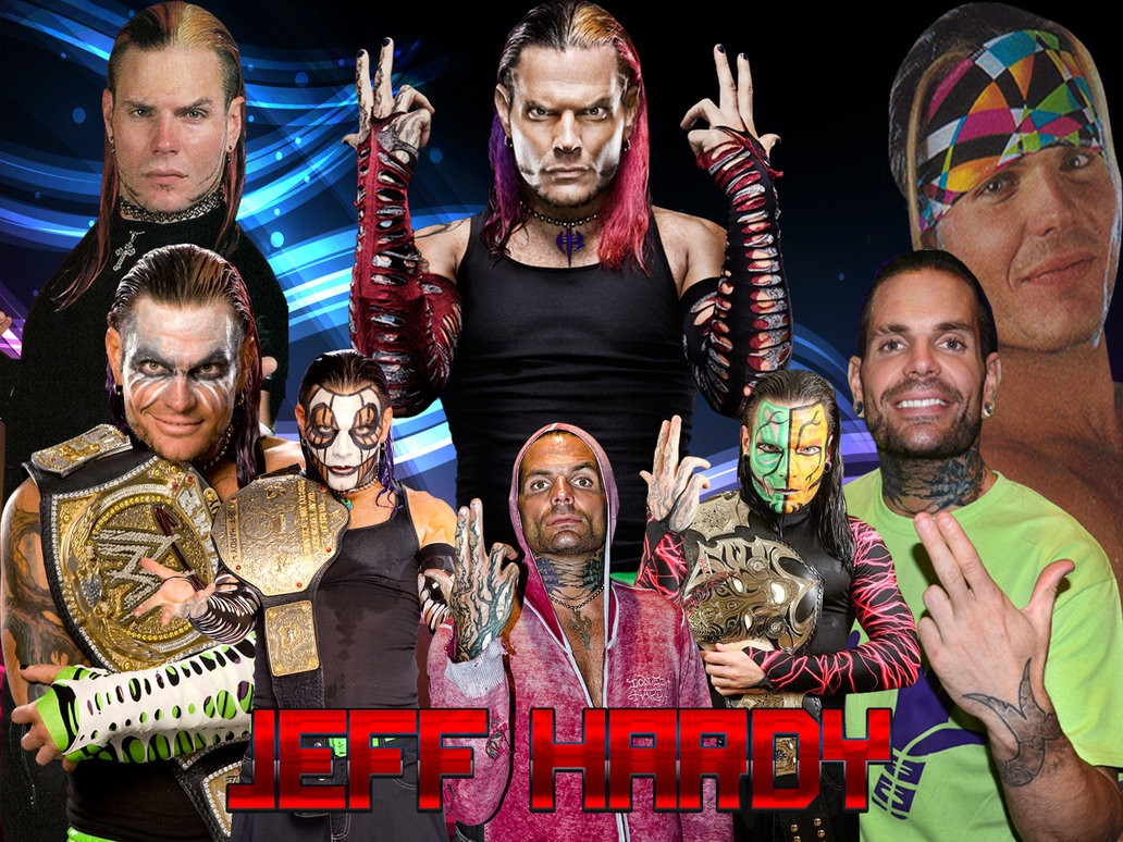 jeff hardy wwe superstar hd background wallpaper
