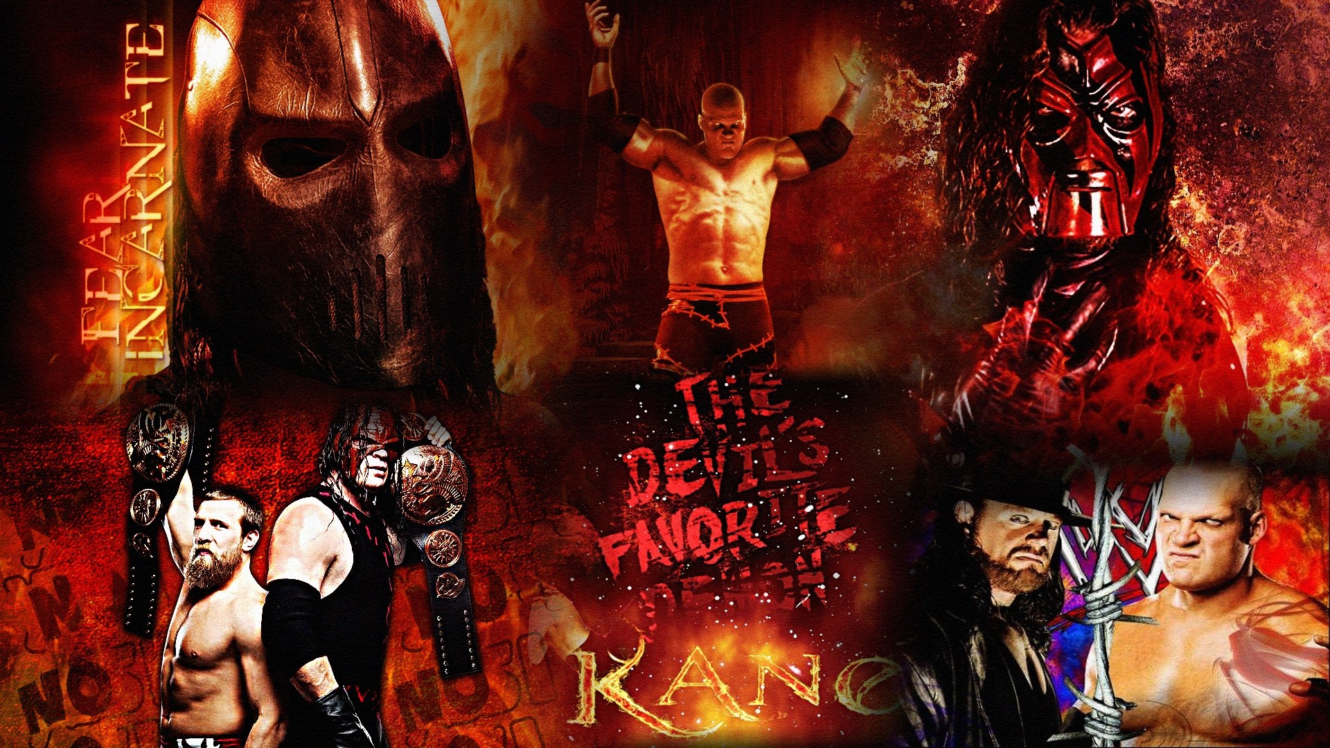 kane undertaker wwe wallpaper