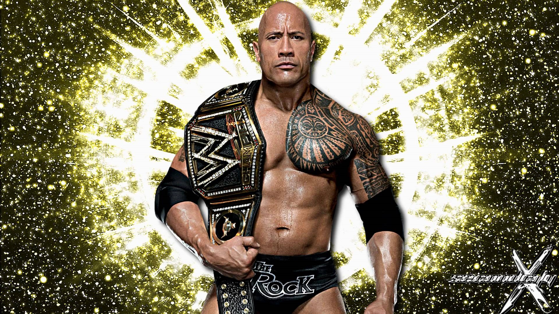 rock wwe desktop background wallpaper