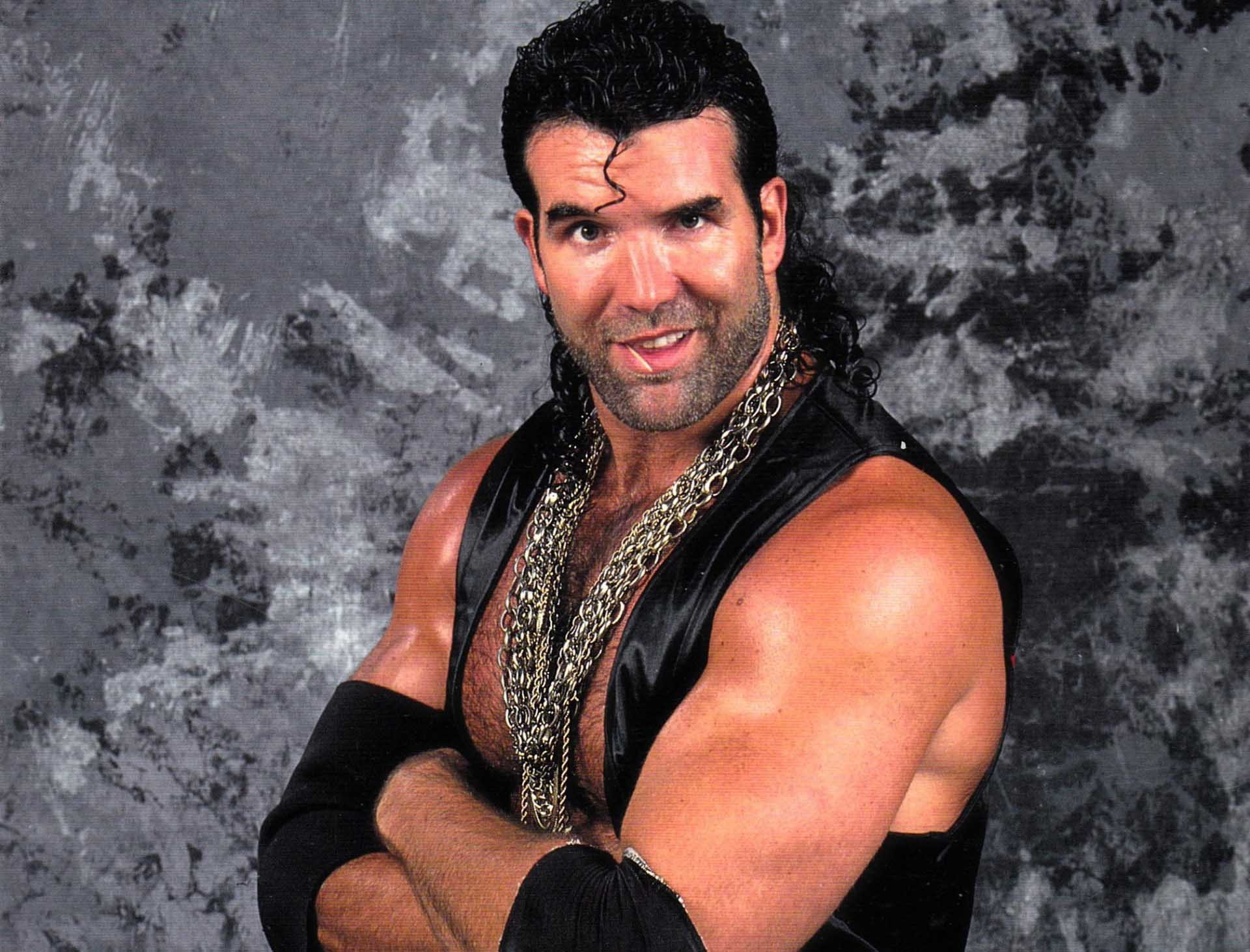 scott hall with his chain razor ramon
