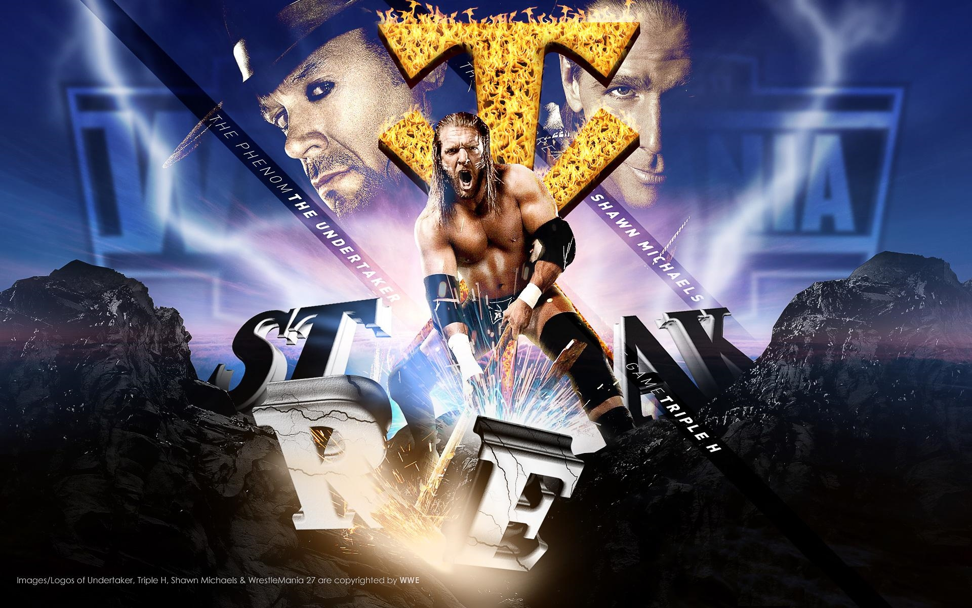 triple h undertaker shawn michael wallpaper