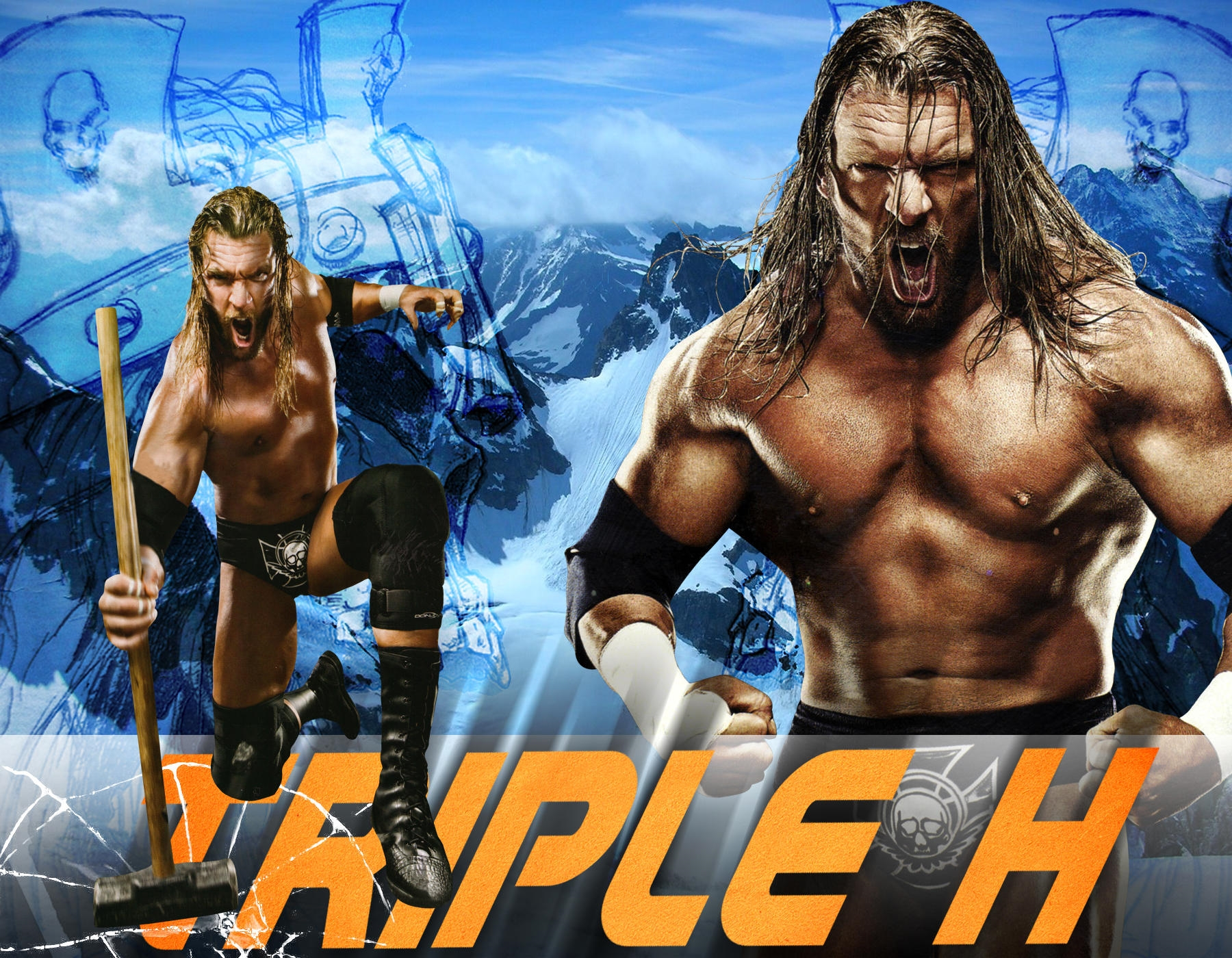 triple hhh wwe wallpaper