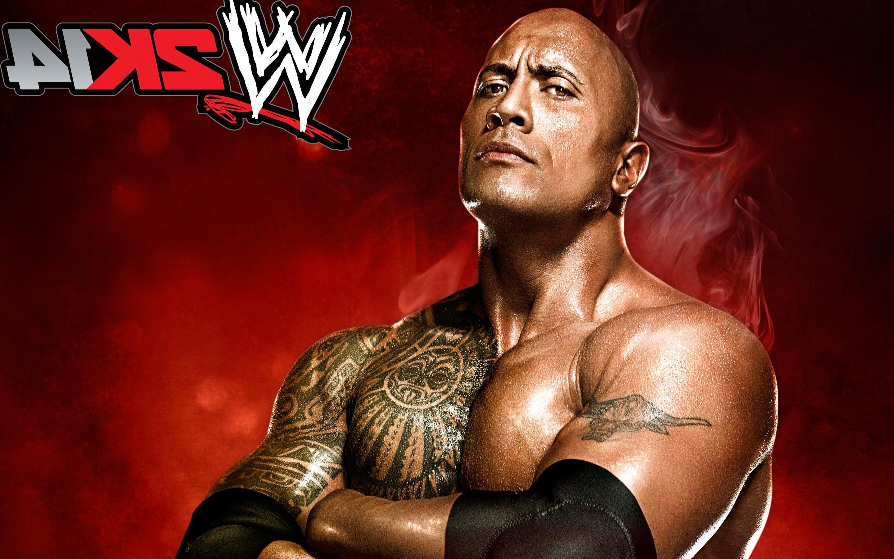 wwe 2k14 2014 video games the rock hd wallpaper