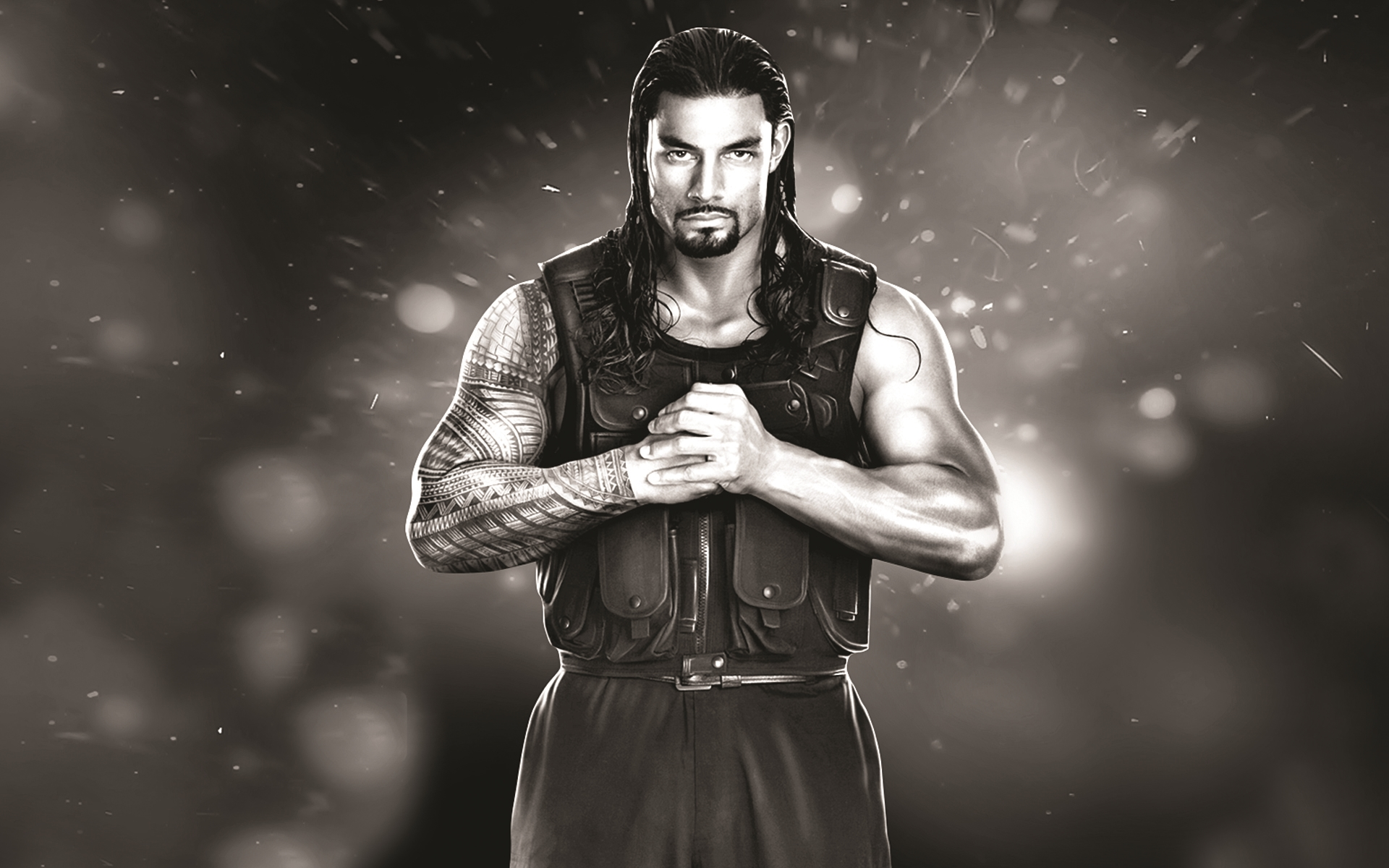 wwe roman reigns in new look hd wallpaper