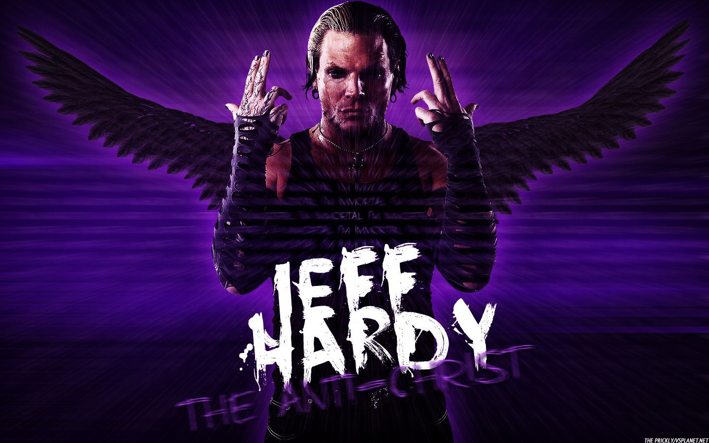 wwe superstar jeff hardy anti christ hd 3d wallpaper