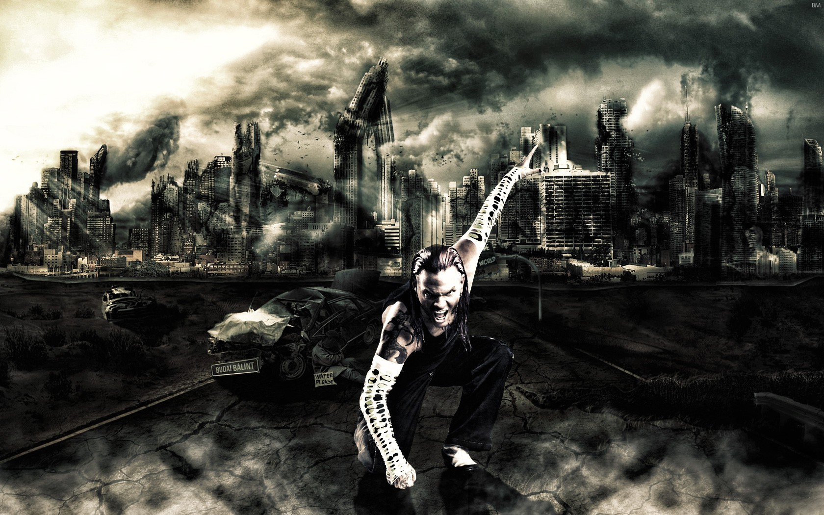 wwe superstar jeff hardy cool hd 3d wallpaper