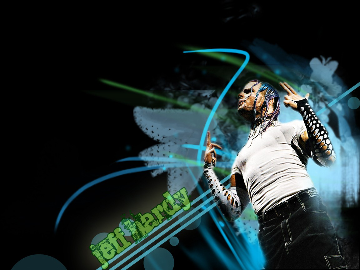 wwe superstar jeff hardy hd 3d background wallpaper