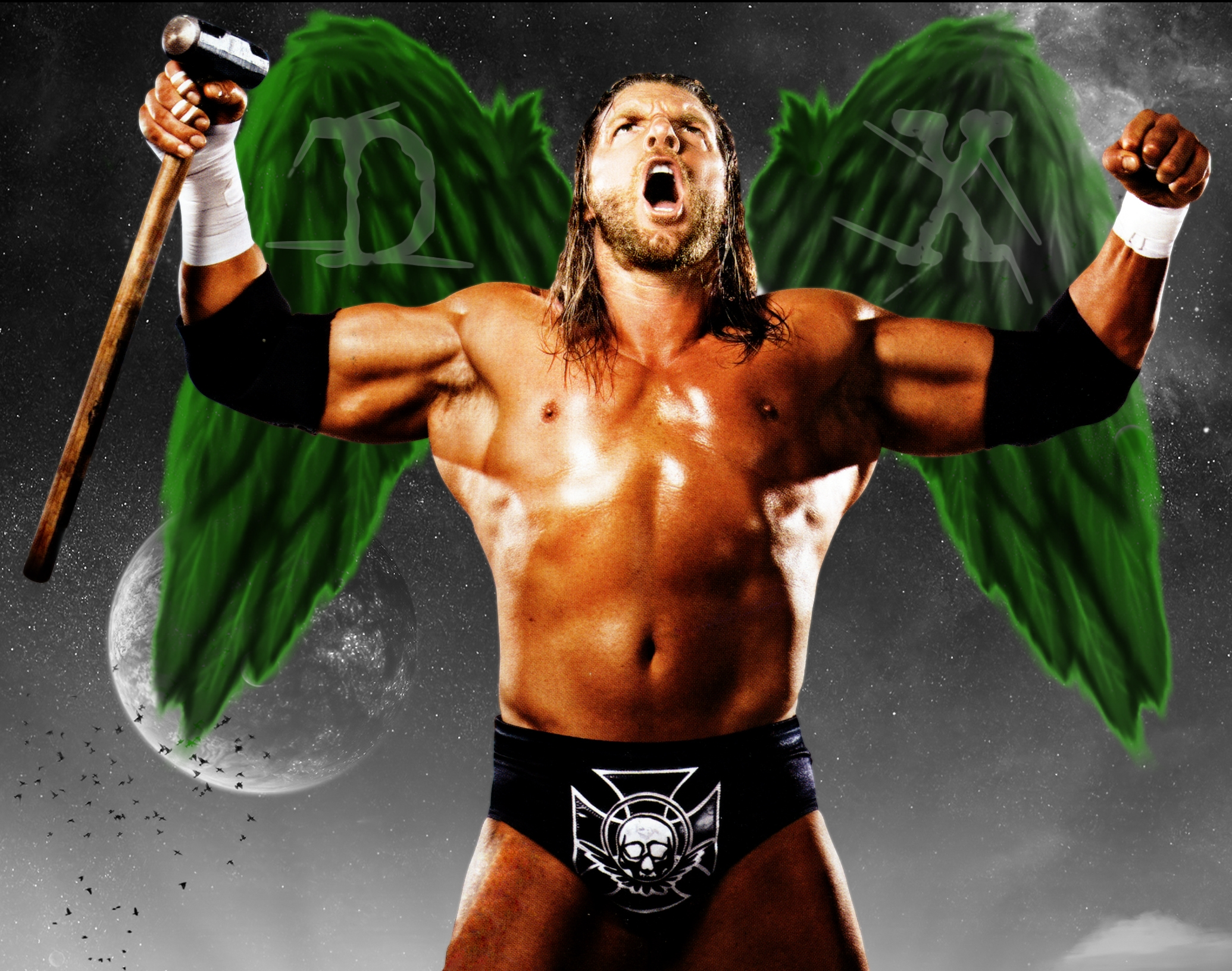 wwe triple h dx angel wallpaper